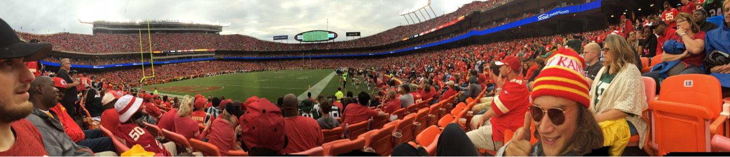 Arrowhead Stadium Section 117 Row 6 Seat 14