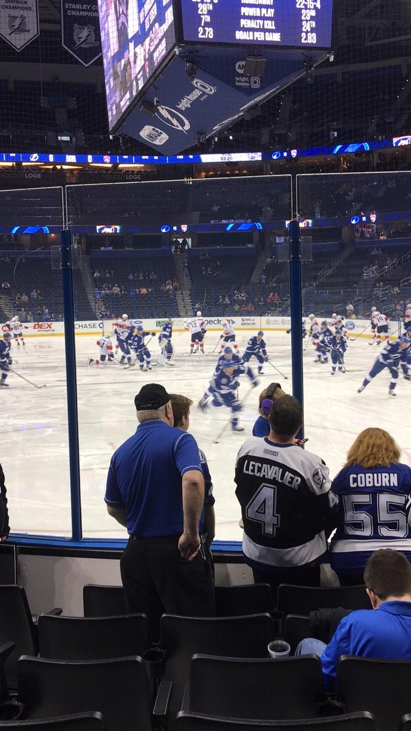 Amalie Arena Section 126 Row G Seat 3