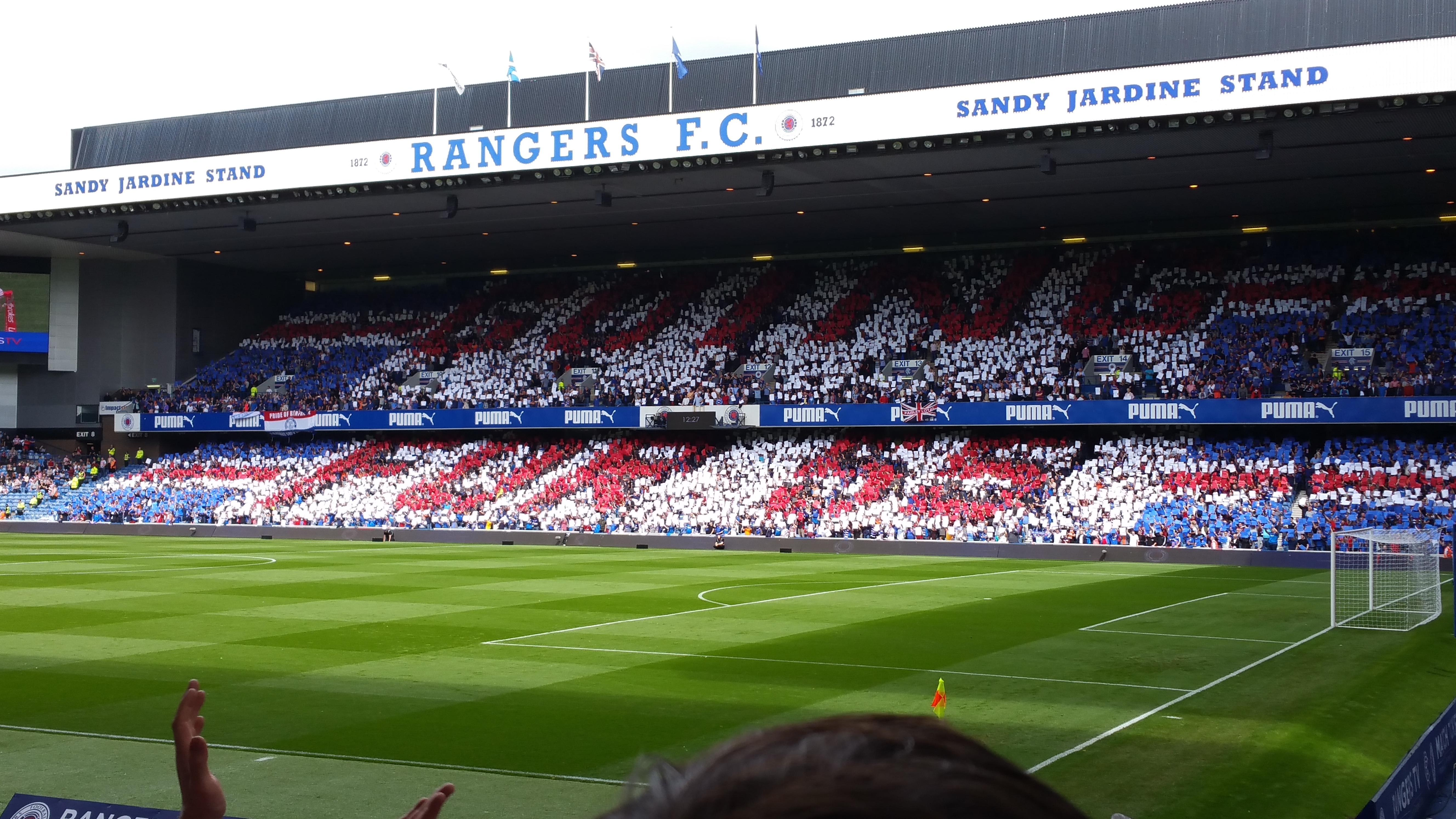 Ibrox Stadium Section SE1 Row M Seat 27