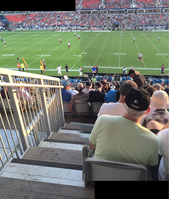 BMO Field Section 107 Row 26 Seat 29