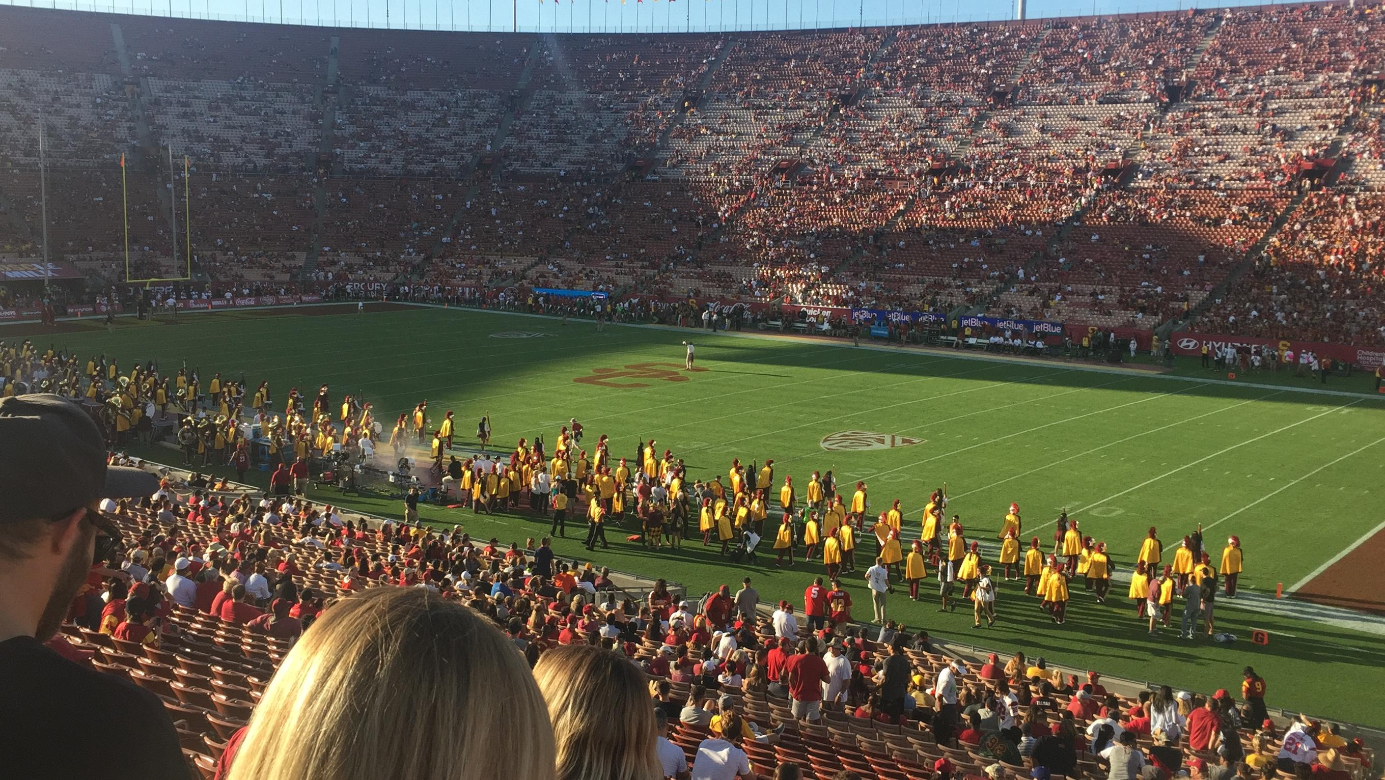 Los Angeles Memorial Coliseum Section 4H Row 39 Seat 101