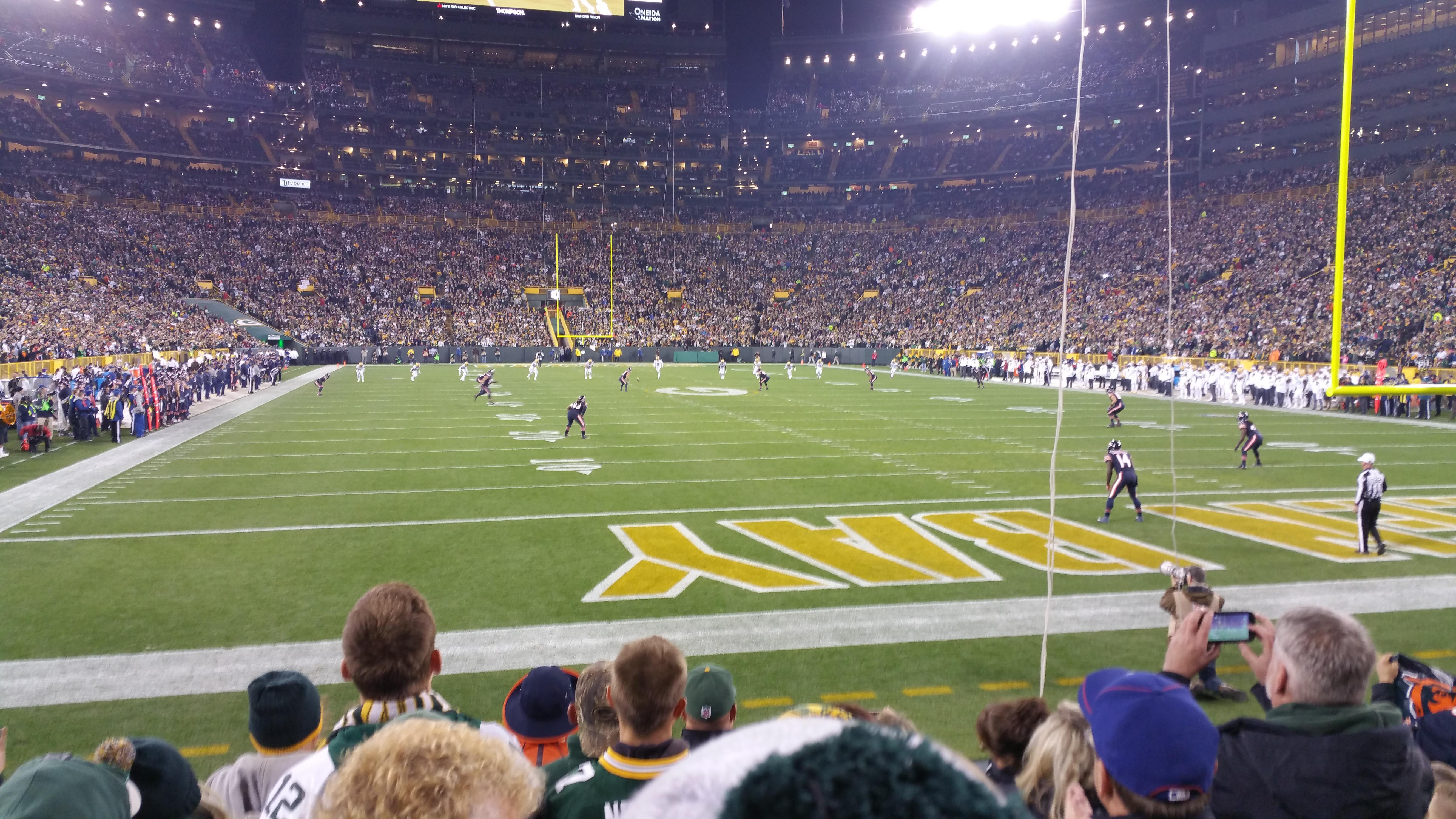 Lambeau Field Section 103 Row 8 Seat 13