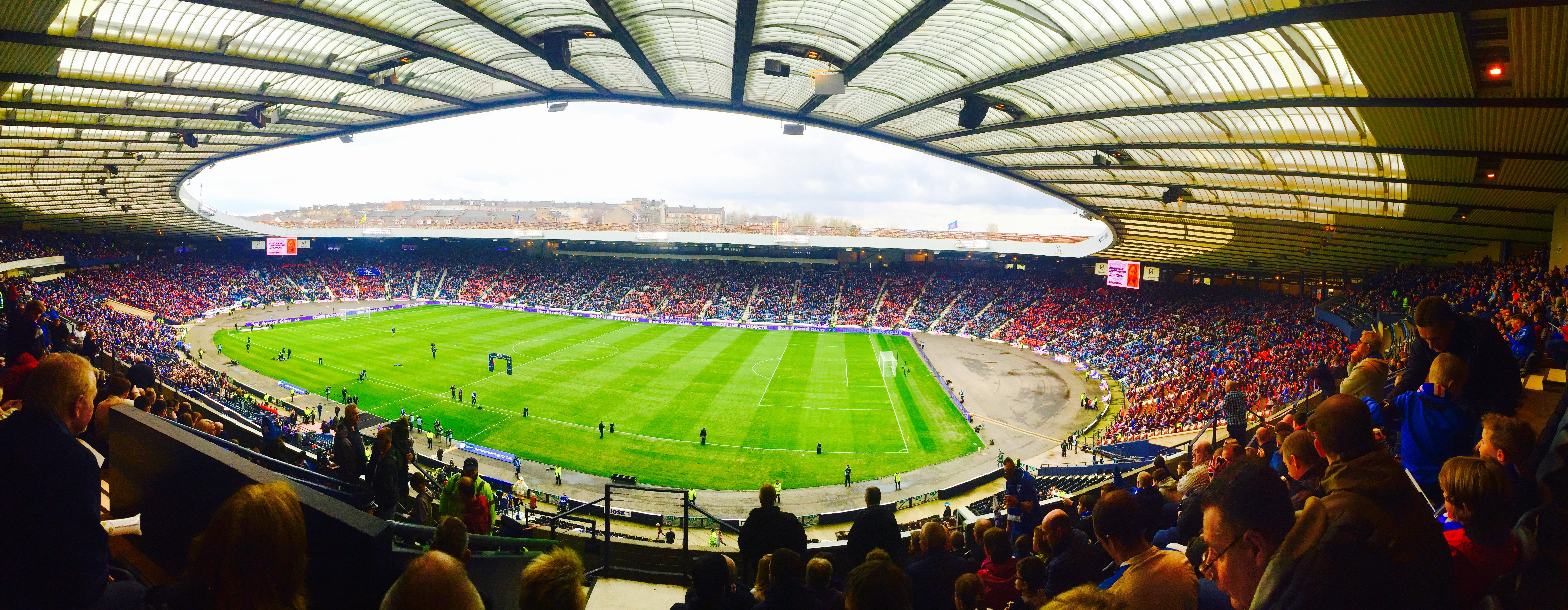 Hampden Park Section K3 Row P Seat 58