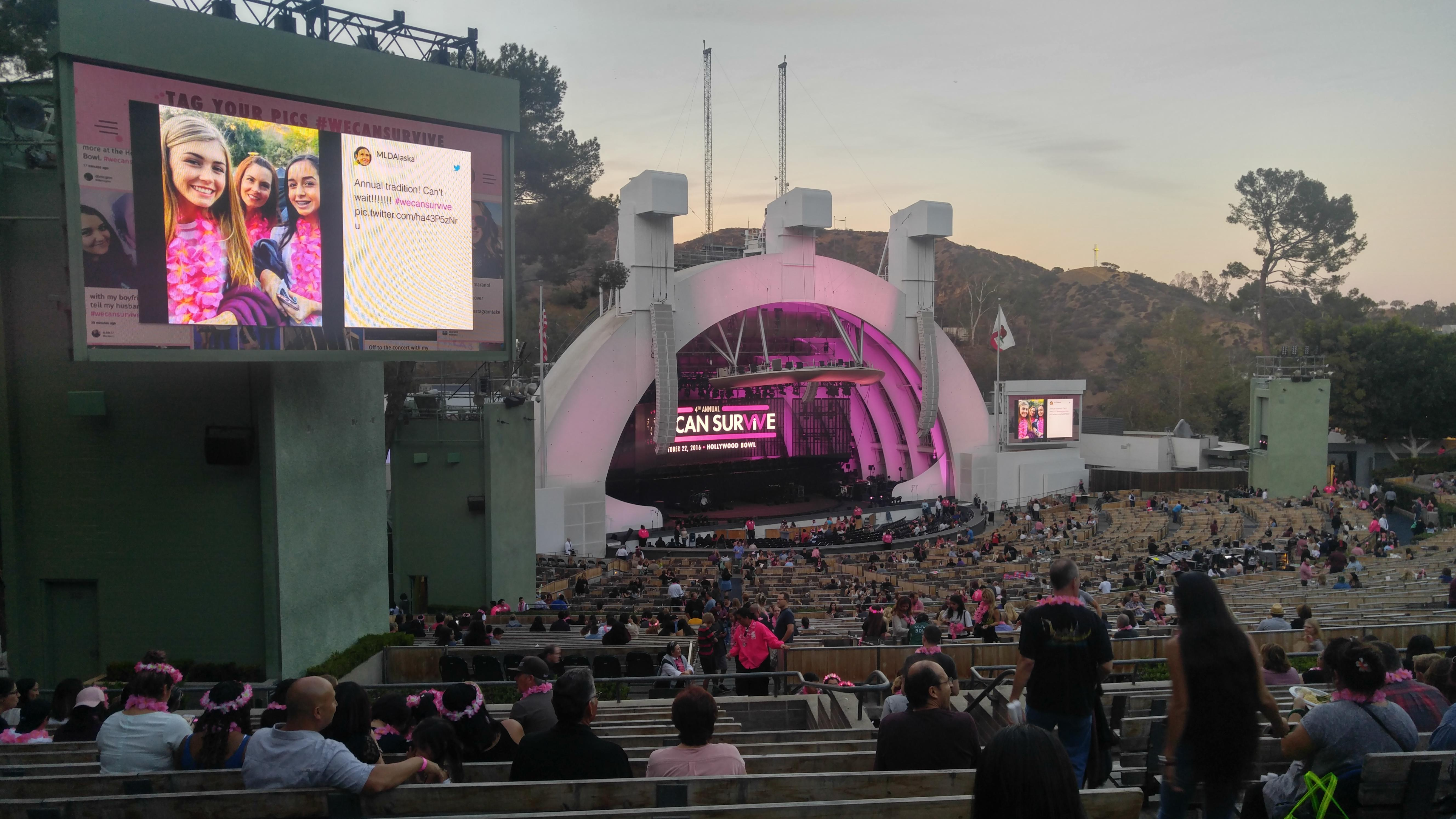 Hollywood Bowl Section K3 Row 14 Seat 7