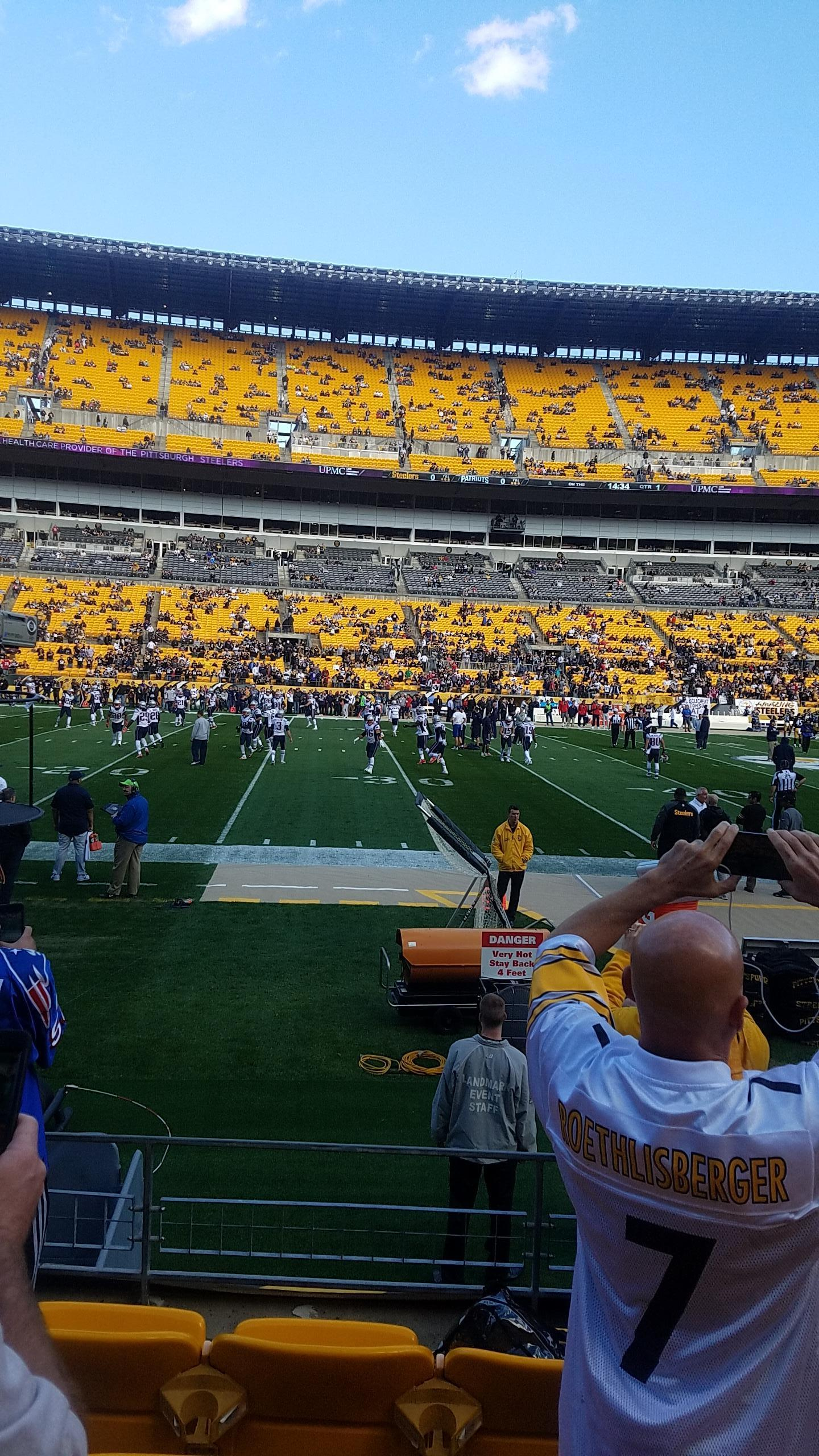 Heinz Field Section 133 Row E Seat 18