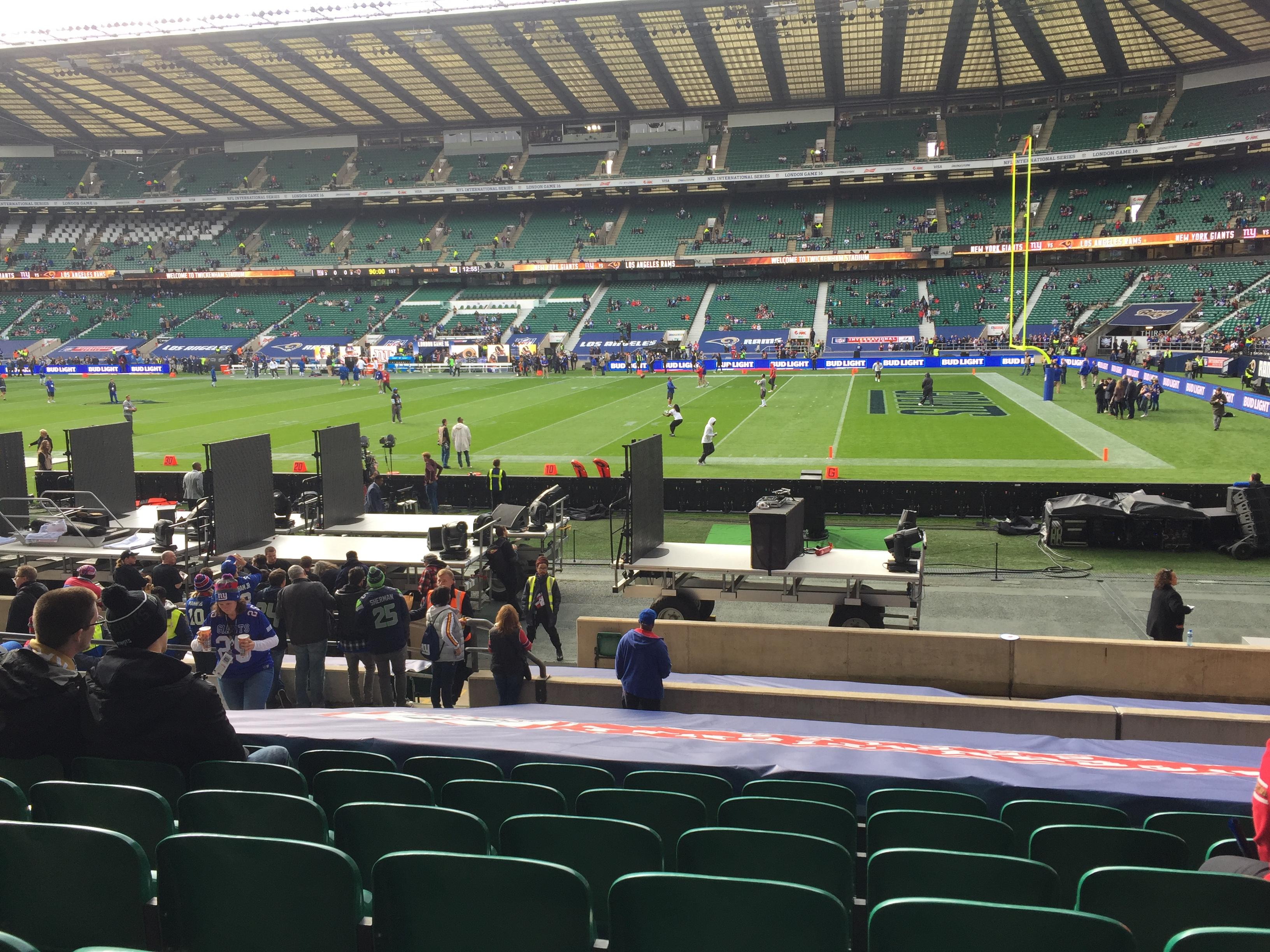 Twickenham Stadium Section L21 Row 20 Seat 106