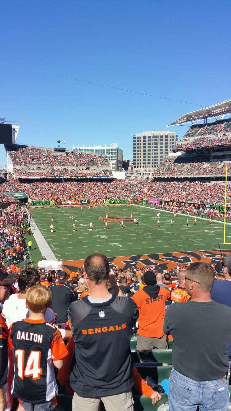 Paul Brown Stadium Section 158 Row 39 Seat 16