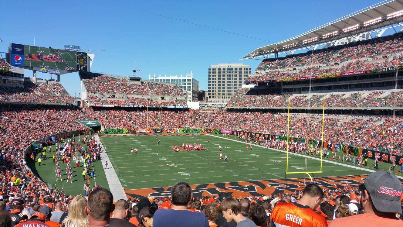 Paul Brown Stadium Section 158 Row 39 Seat 18