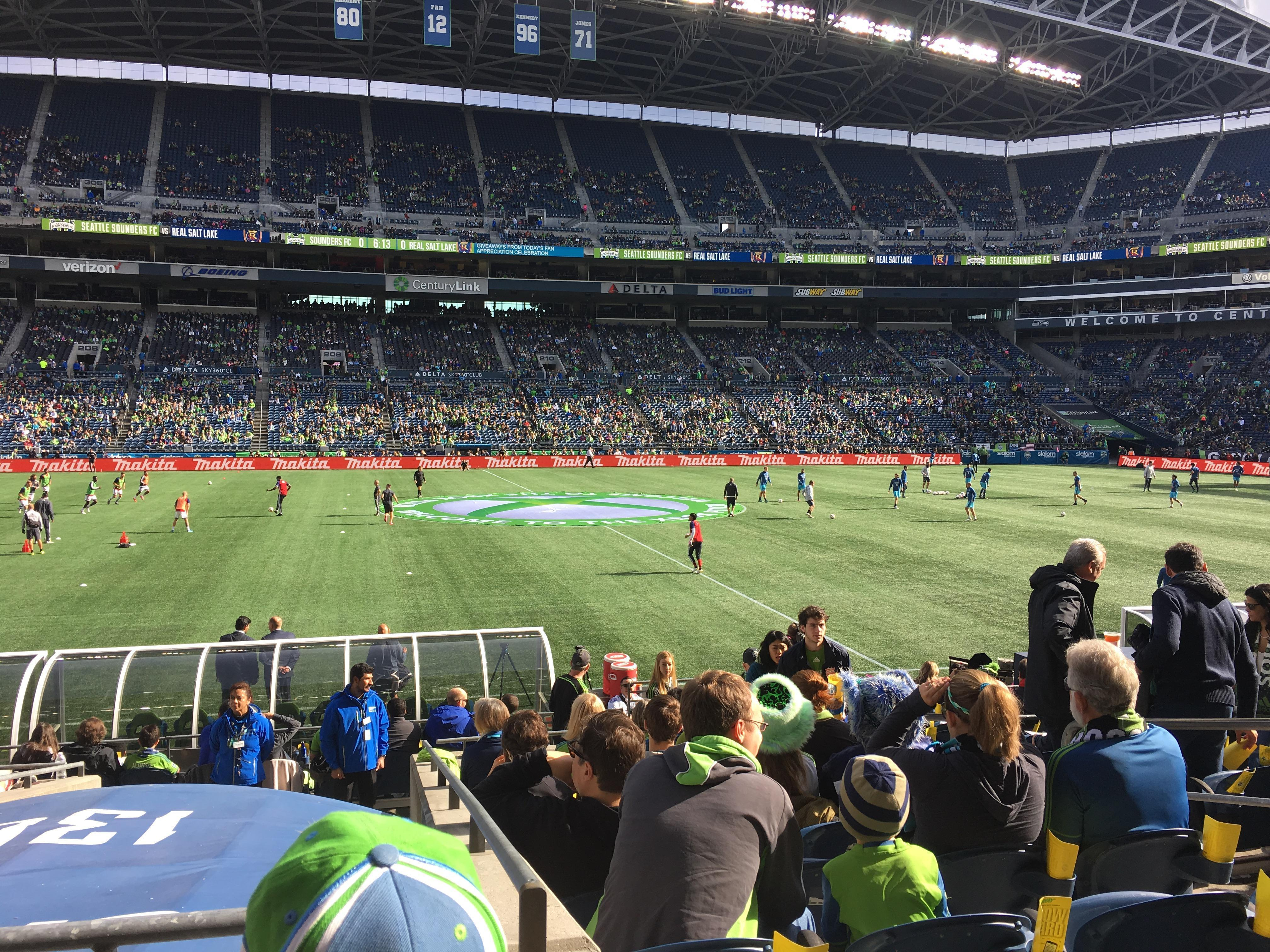 CenturyLink Field Section CHR136 Row N Seat 6