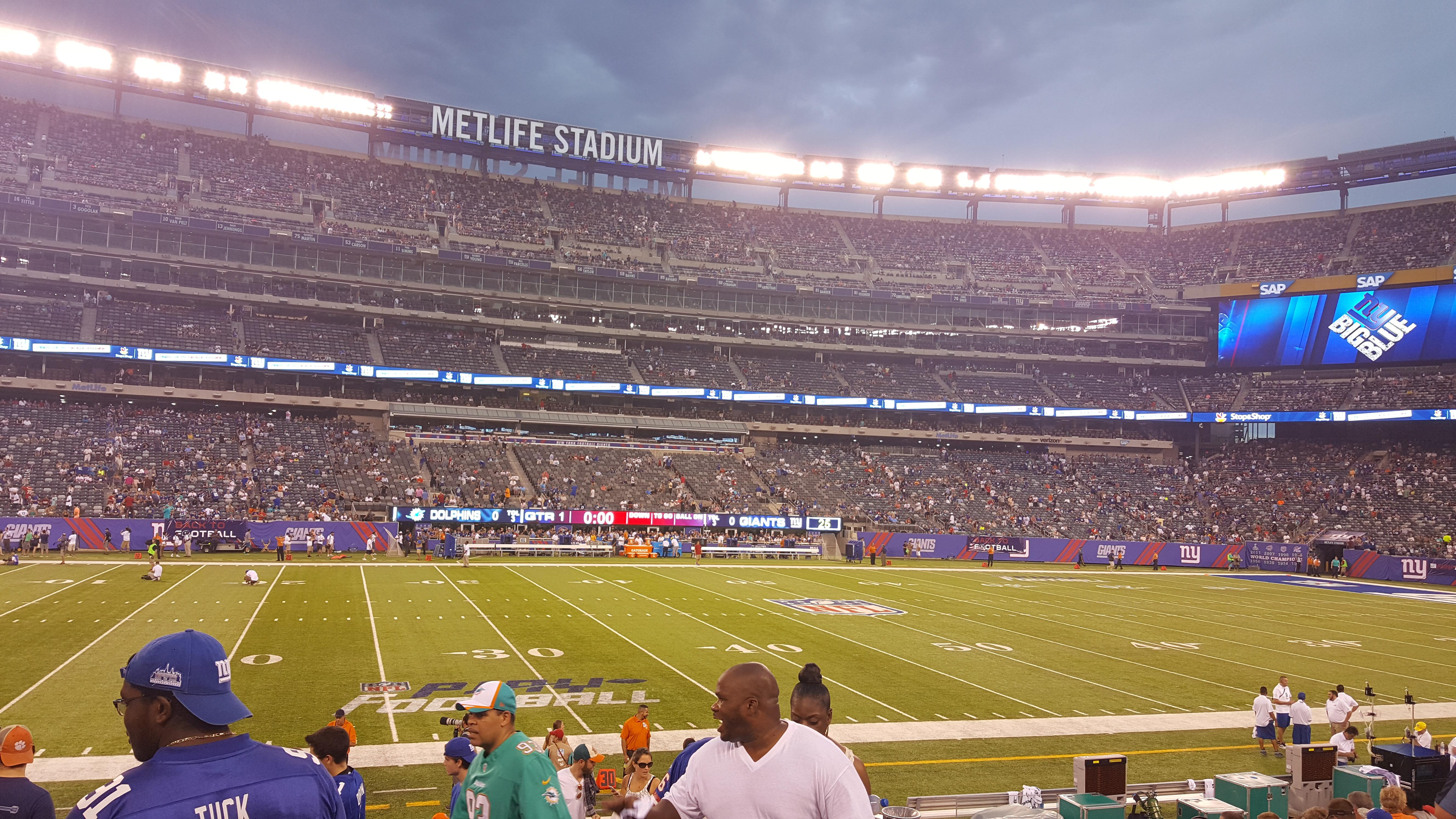 MetLife Stadium Section 142 Row 16 Seat 1