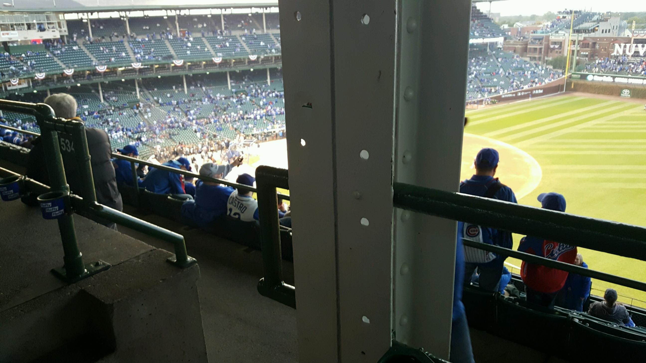 Wrigley Field Section 534 Row 1 Seat 1,2