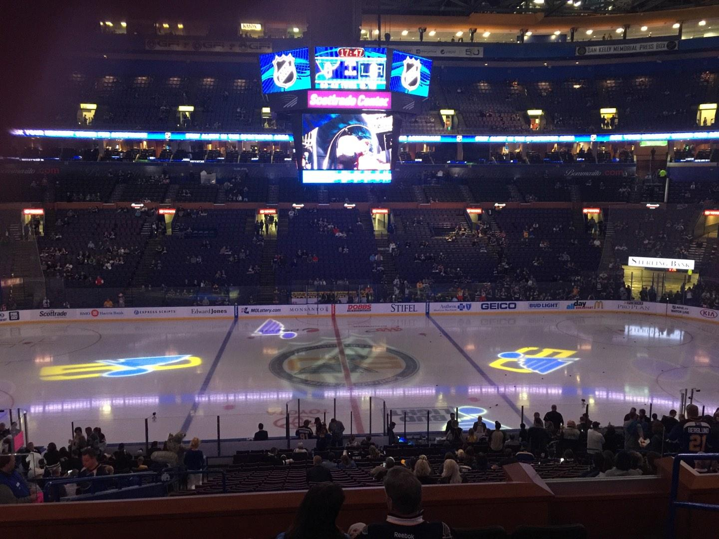 Enterprise Center Section 103C Row GG Seat 14