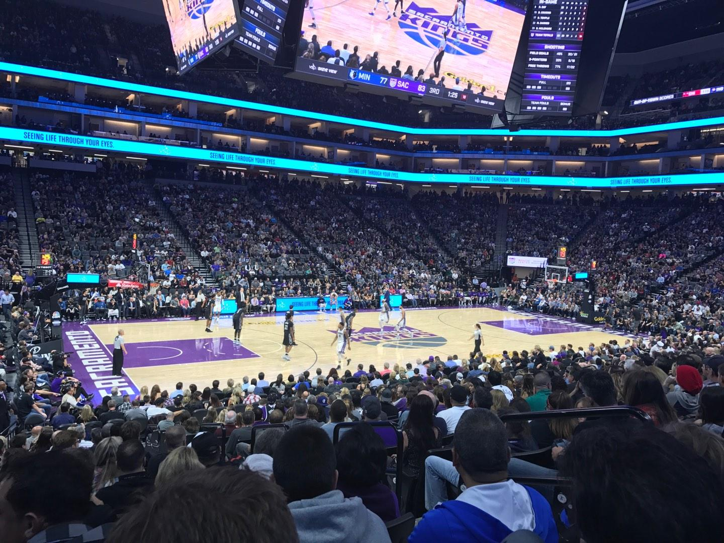 Golden 1 Center Section 122 Row H Seat 4