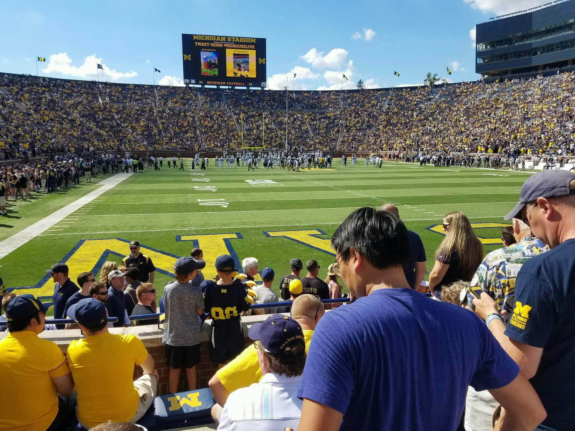 Michigan Stadium Section 35 Row 4 Seat 1