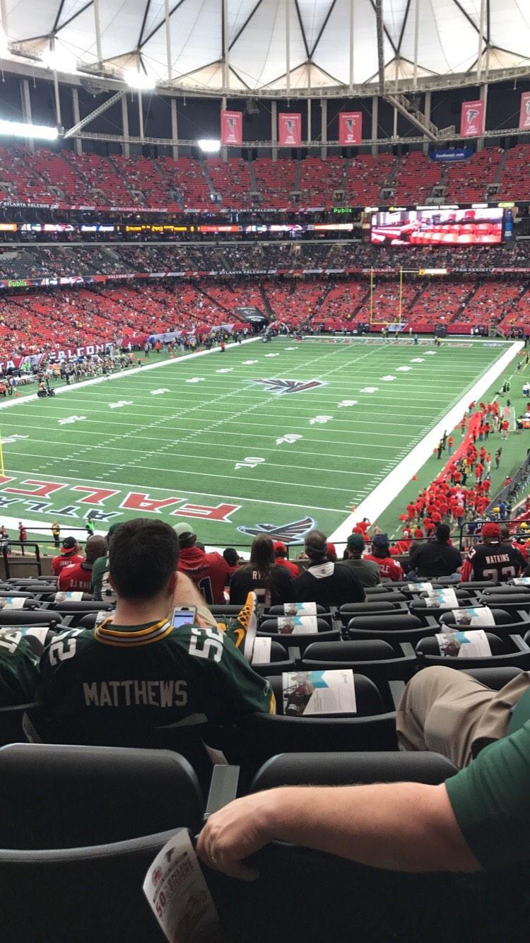 Georgia Dome Section 205 Row 14 Seat 5