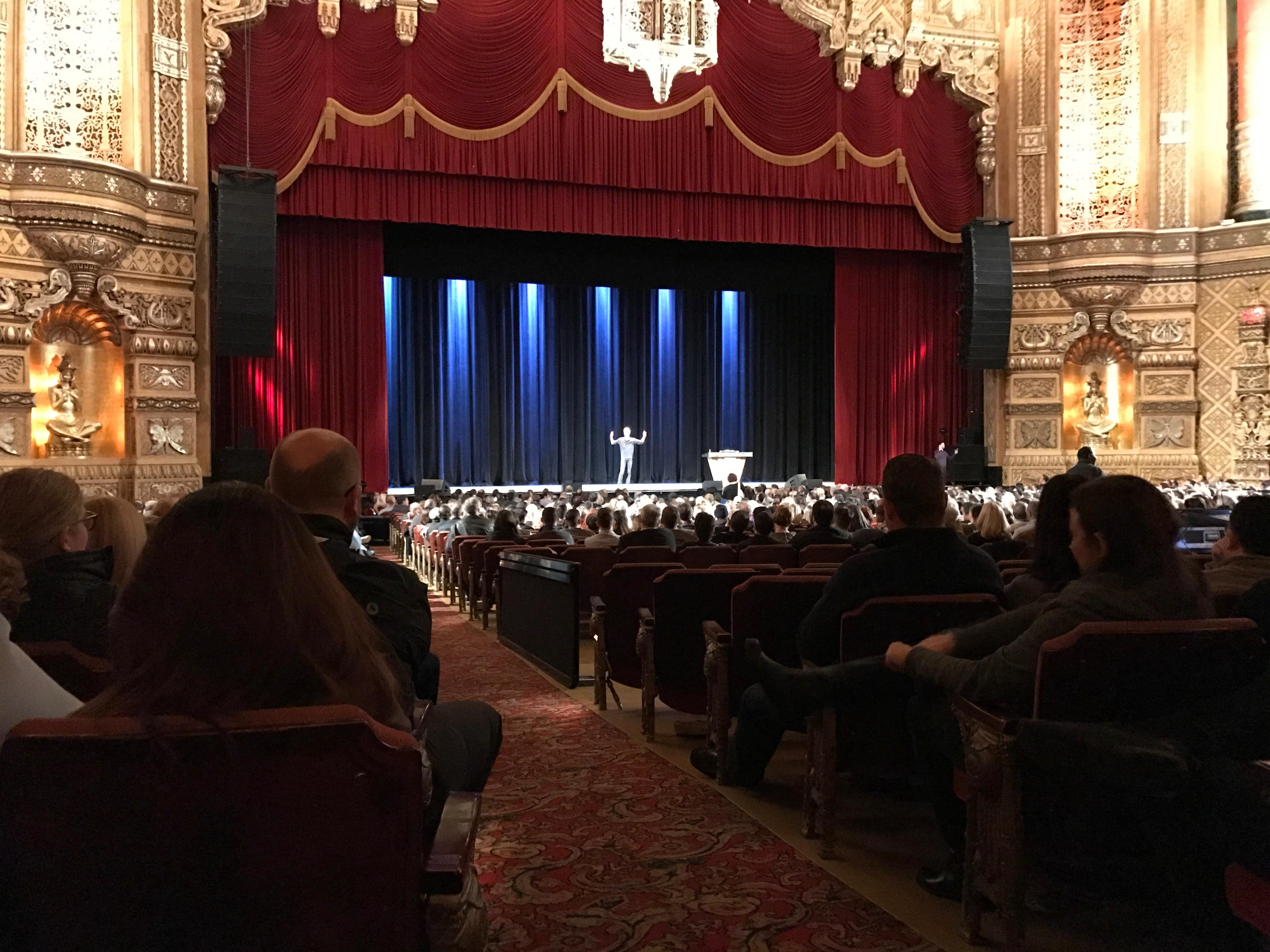 Fox Theatre (Detroit) Section F2 Row EE Seat 214