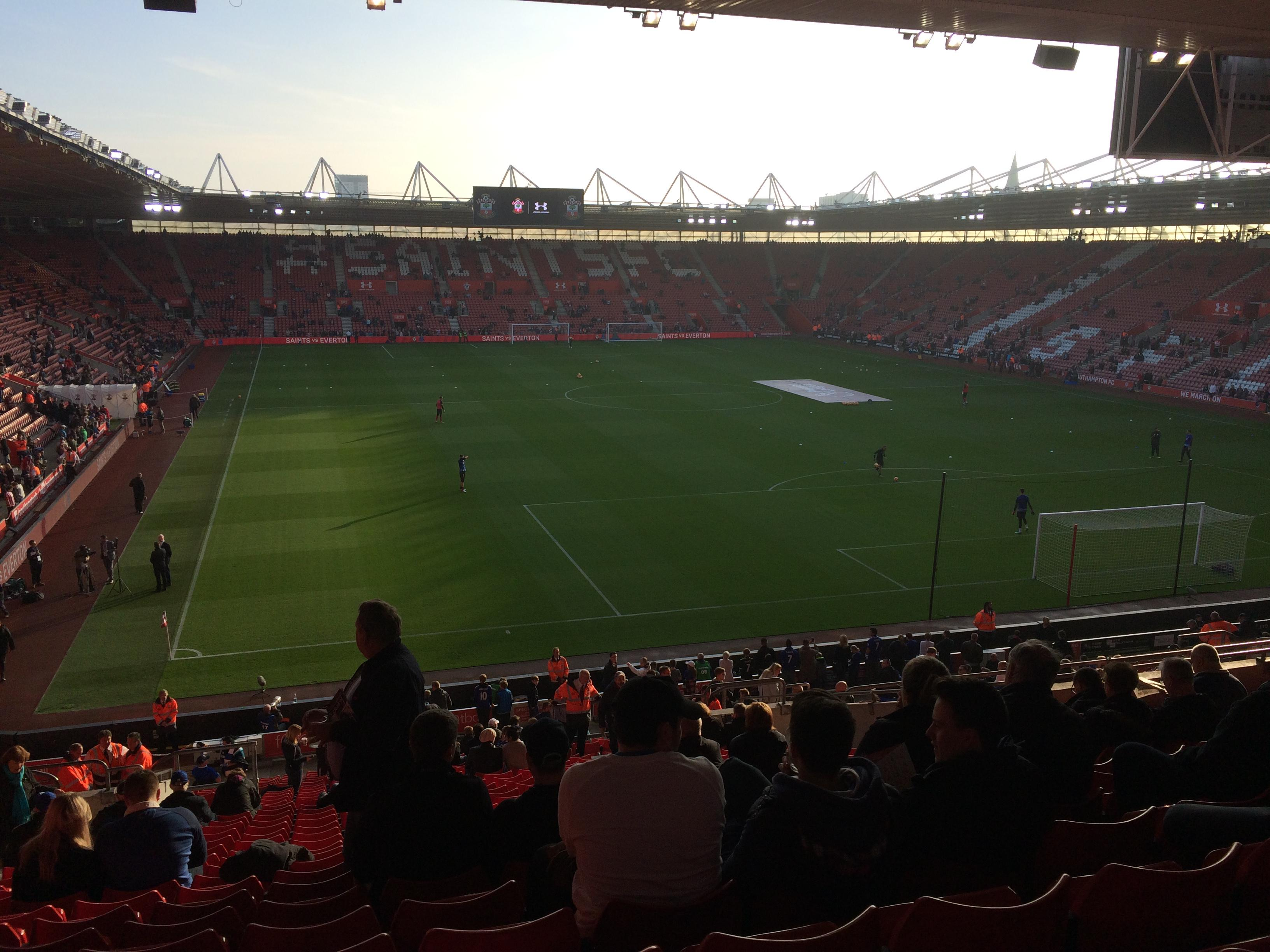 St Mary's Stadium Section 45 Row KK Seat 1176