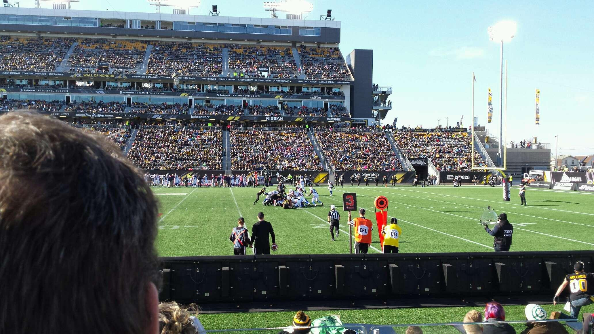 Tim Hortons Field Section 114 Row 3 Seat 30