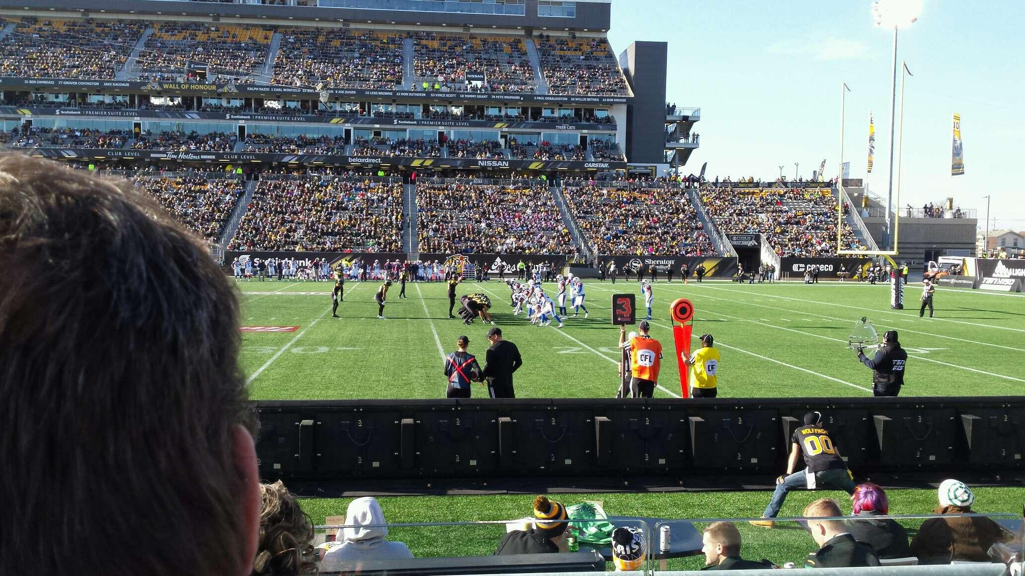 Tim Hortons Field Section 114 Row 3 Seat 31