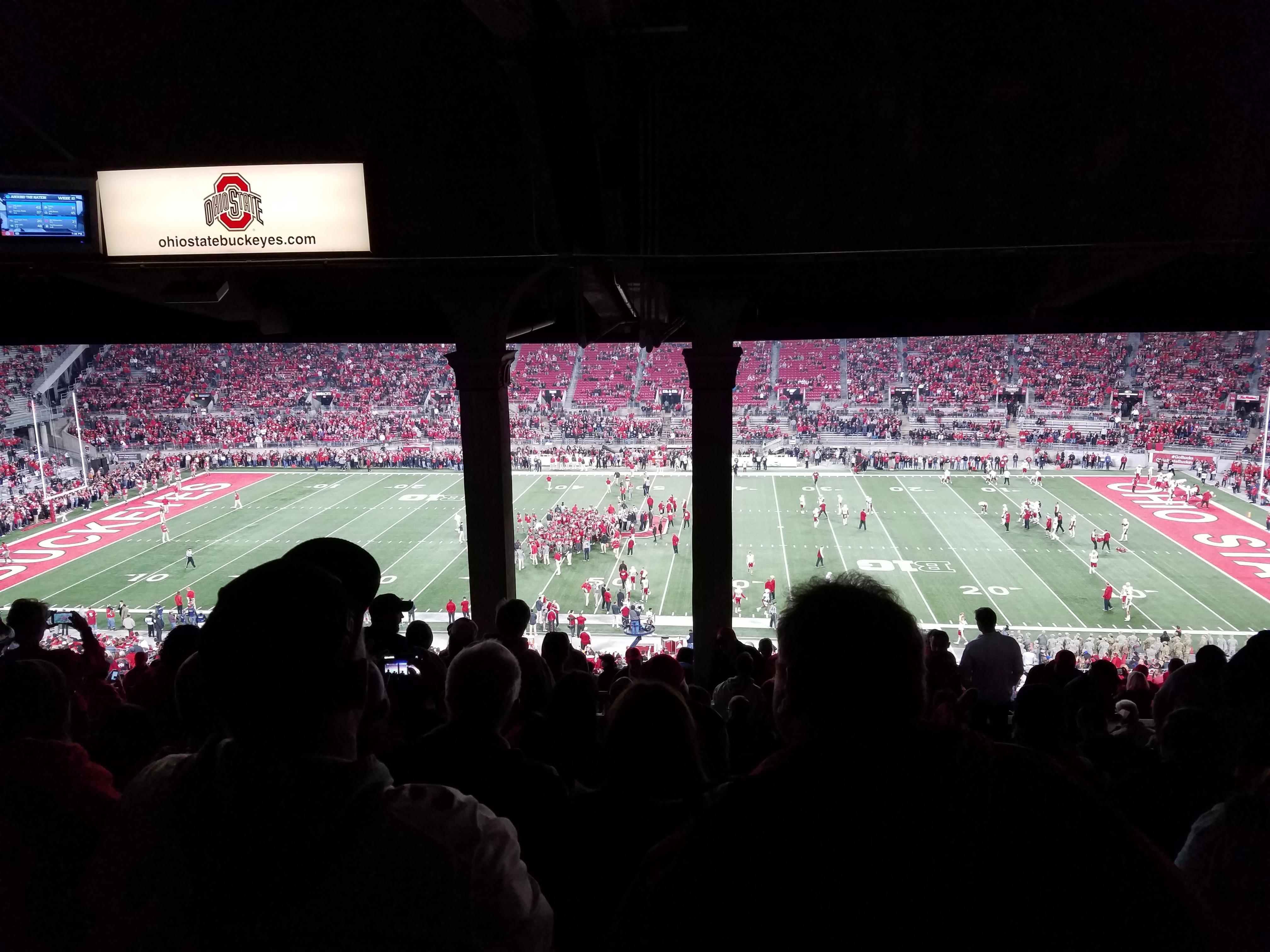 Ohio Stadium Section 18B Row 14 Seat 25