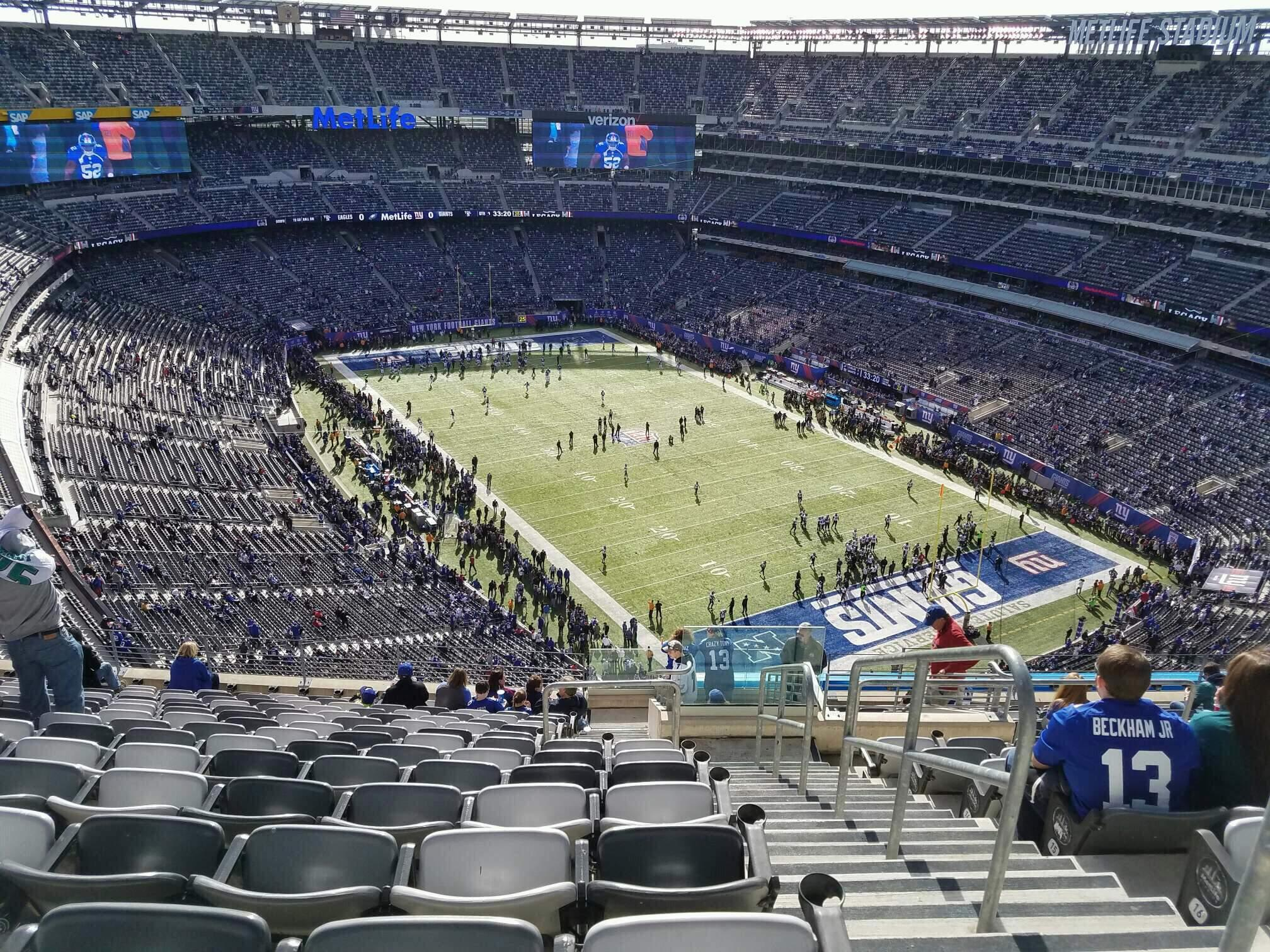 MetLife Stadium Section 306 Row 19 Seat 1