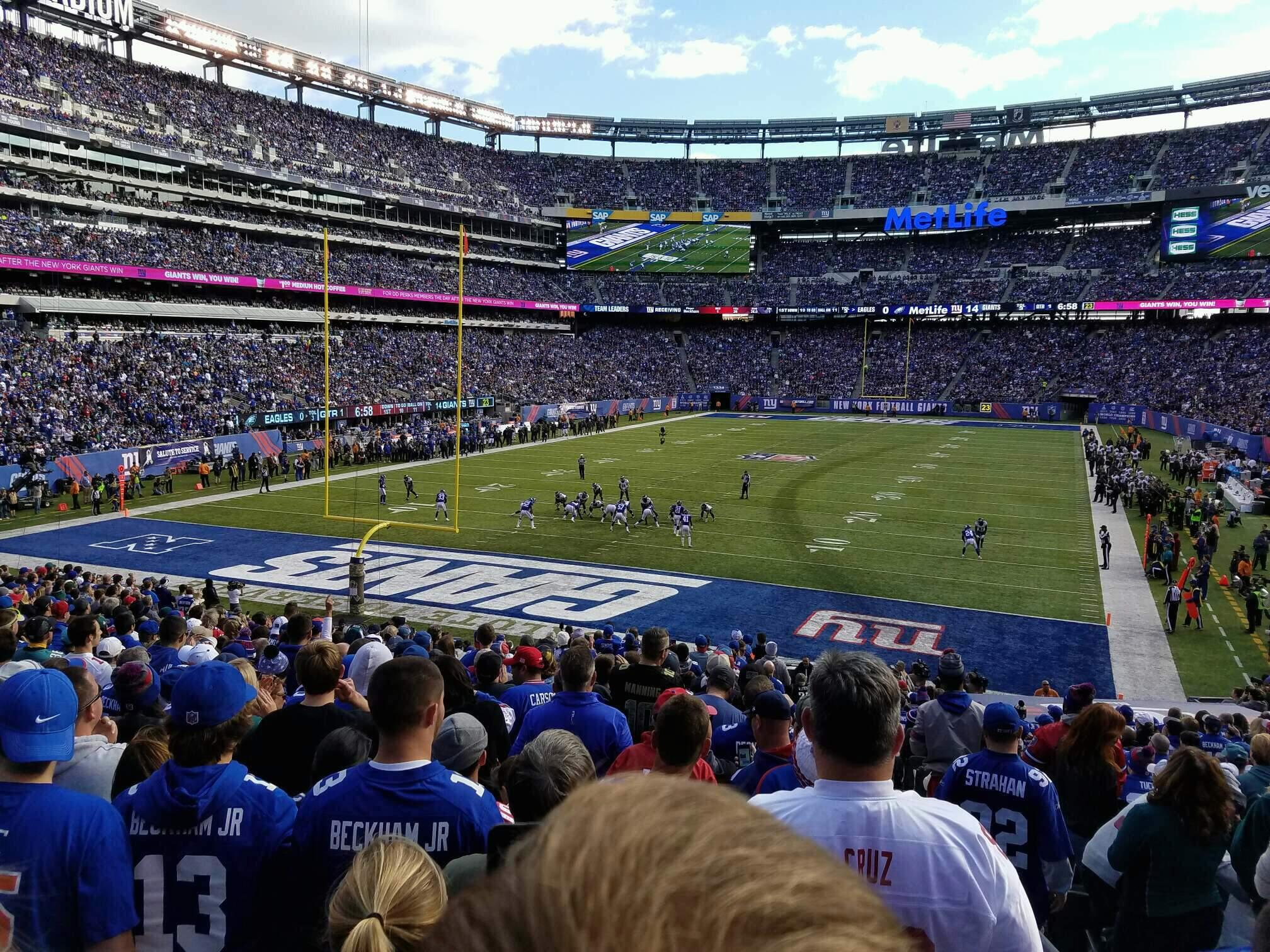 MetLife Stadium Section 149 Row 28 Seat 1