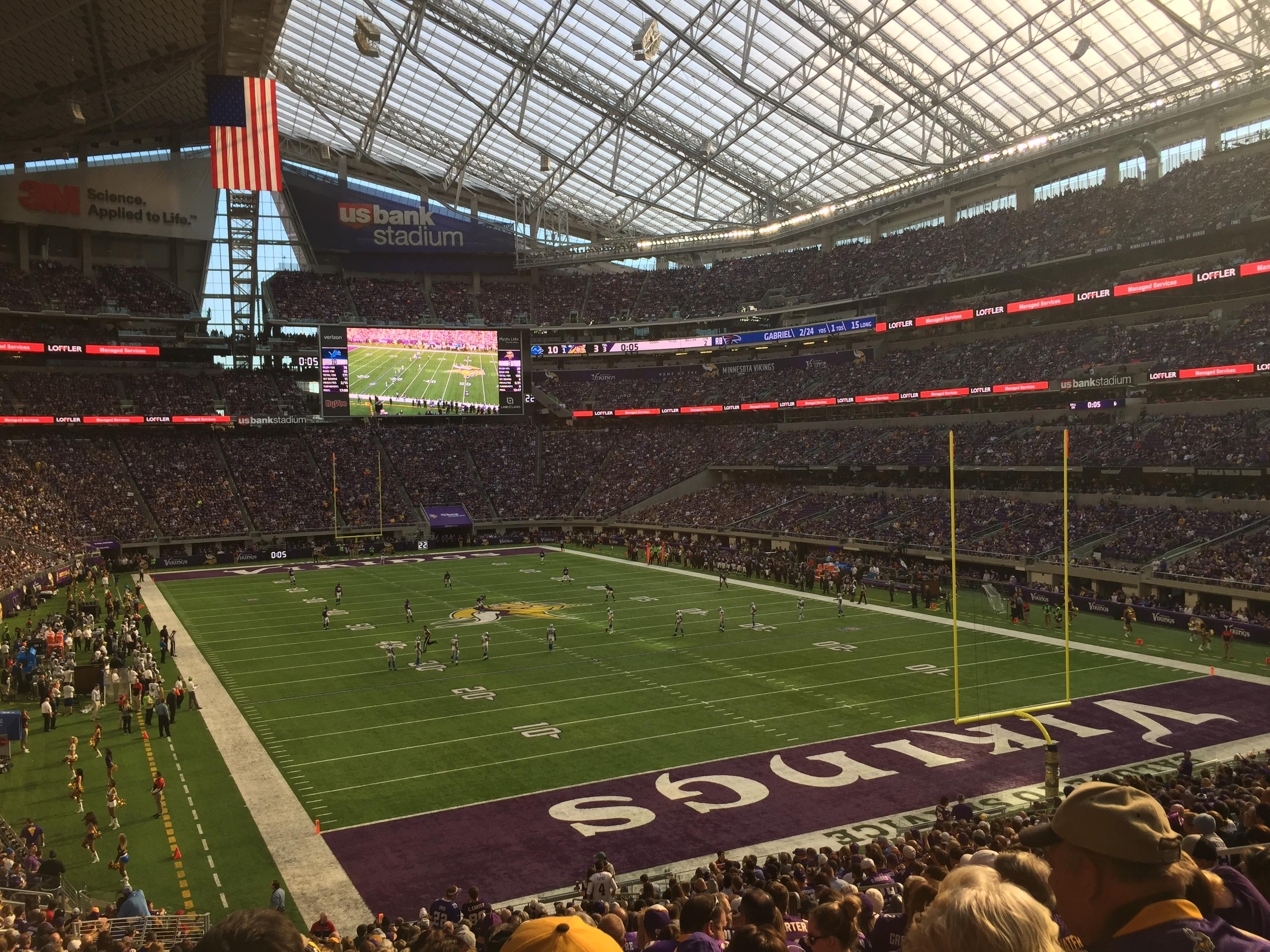 U.S. Bank Stadium Section 101 Row 31 Seat 12