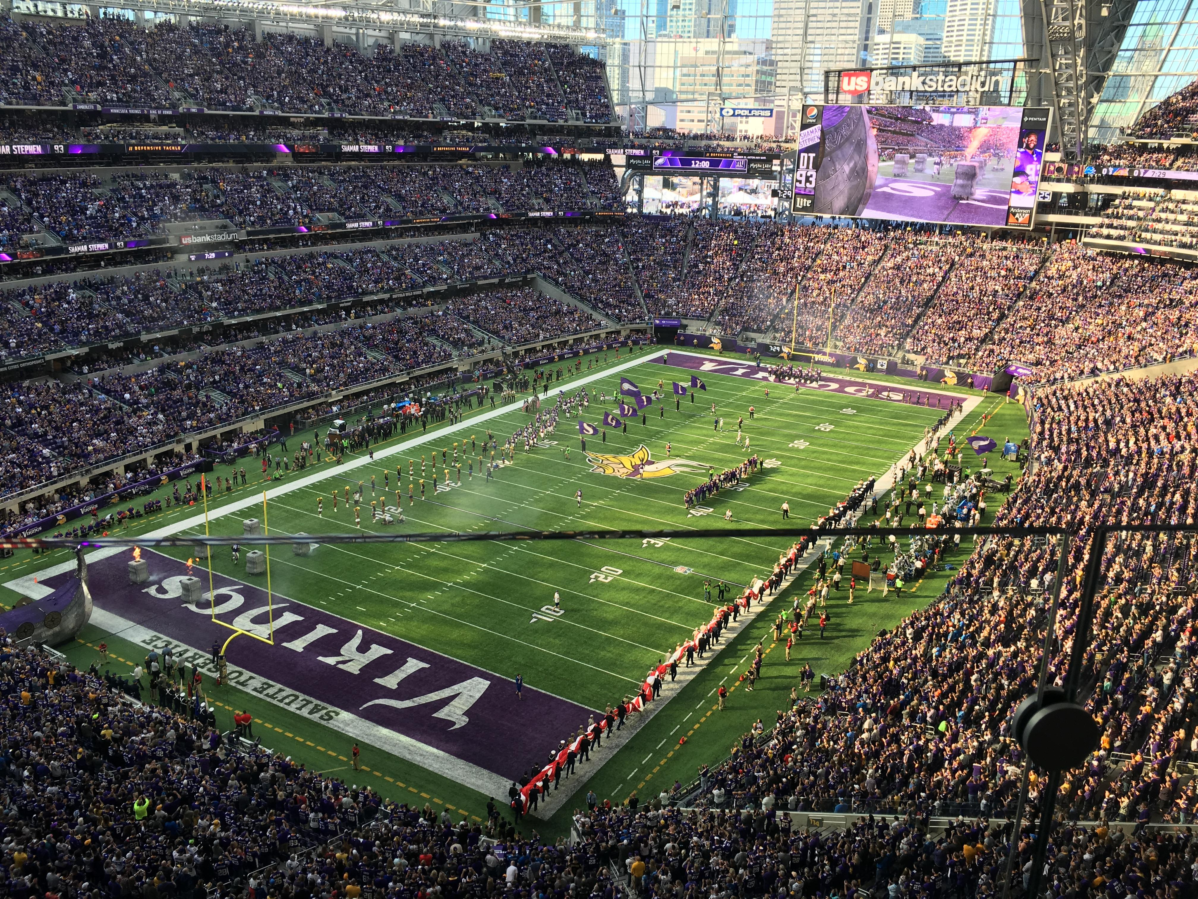 U.S. Bank Stadium Section 321 Row 1 Seat 8