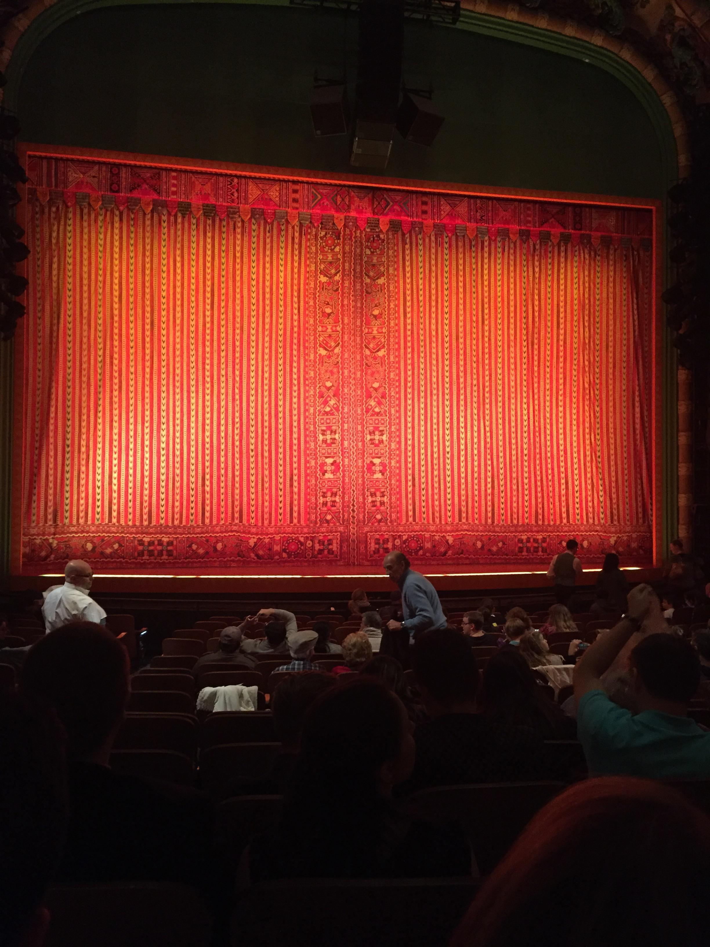 New Amsterdam Theatre Section Orch Row Q Seat 115