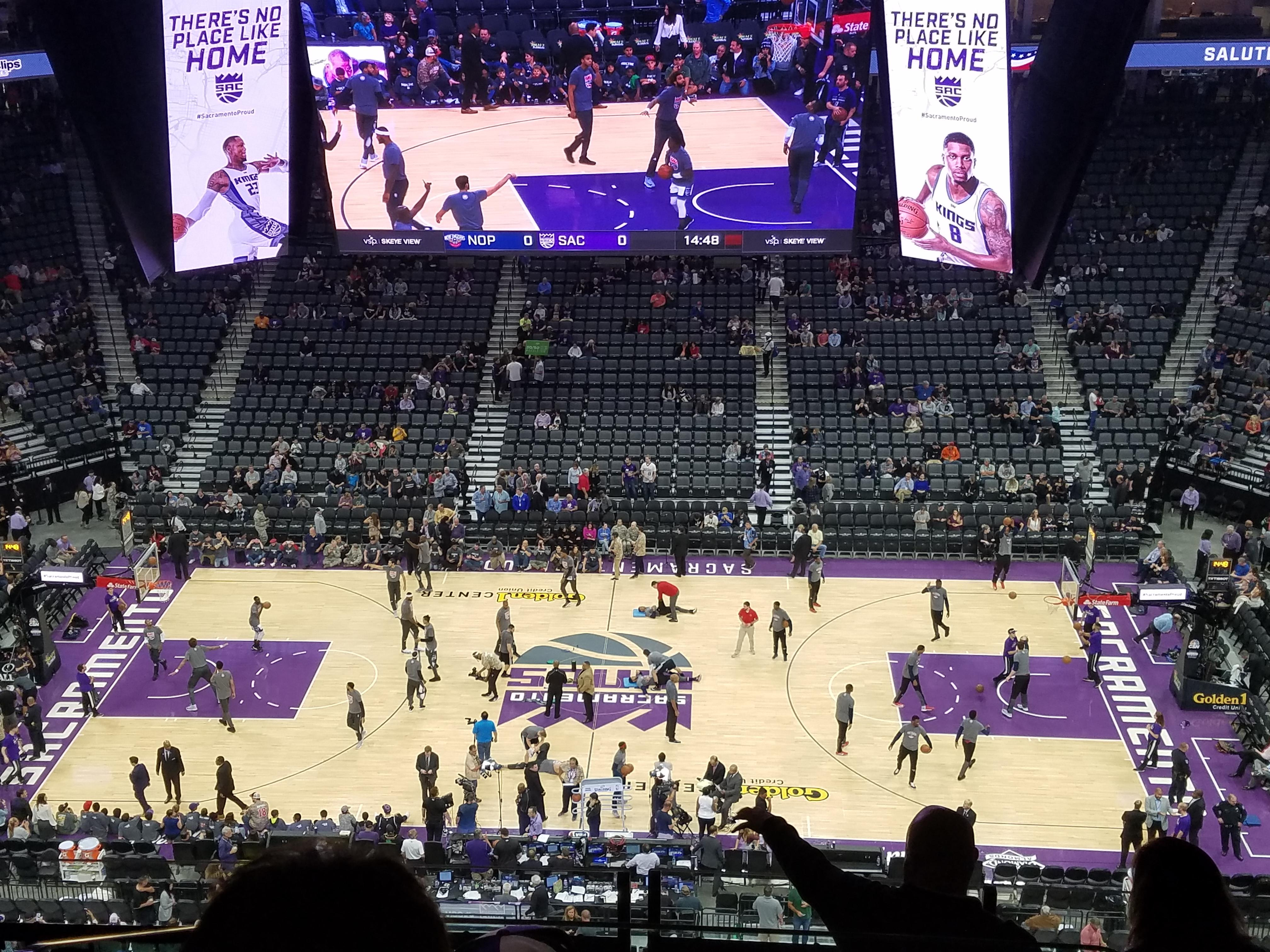 Golden 1 Center Section 205 Row G Seat 4