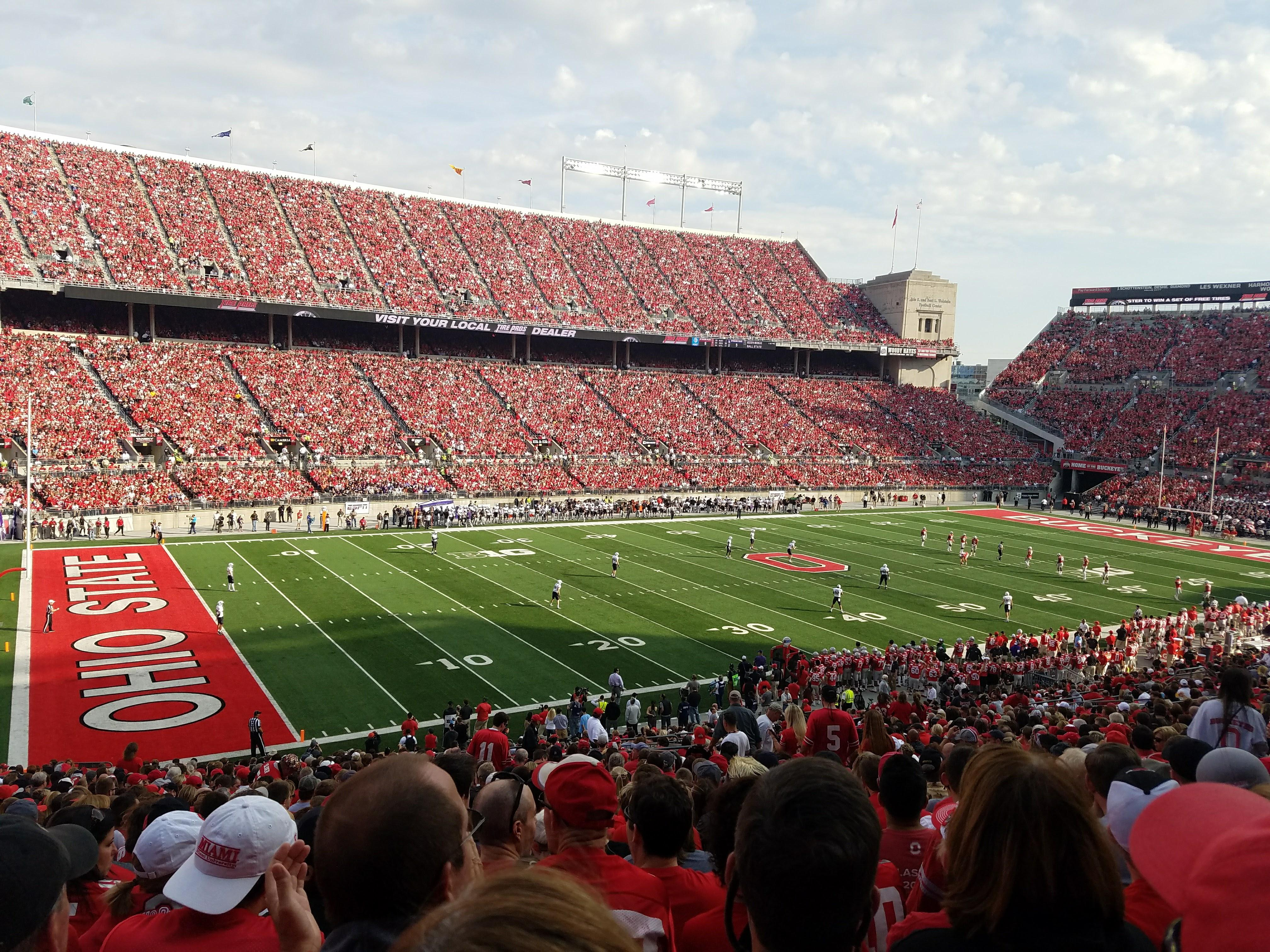 Ohio Stadium Section 13A Row 29 Seat 21