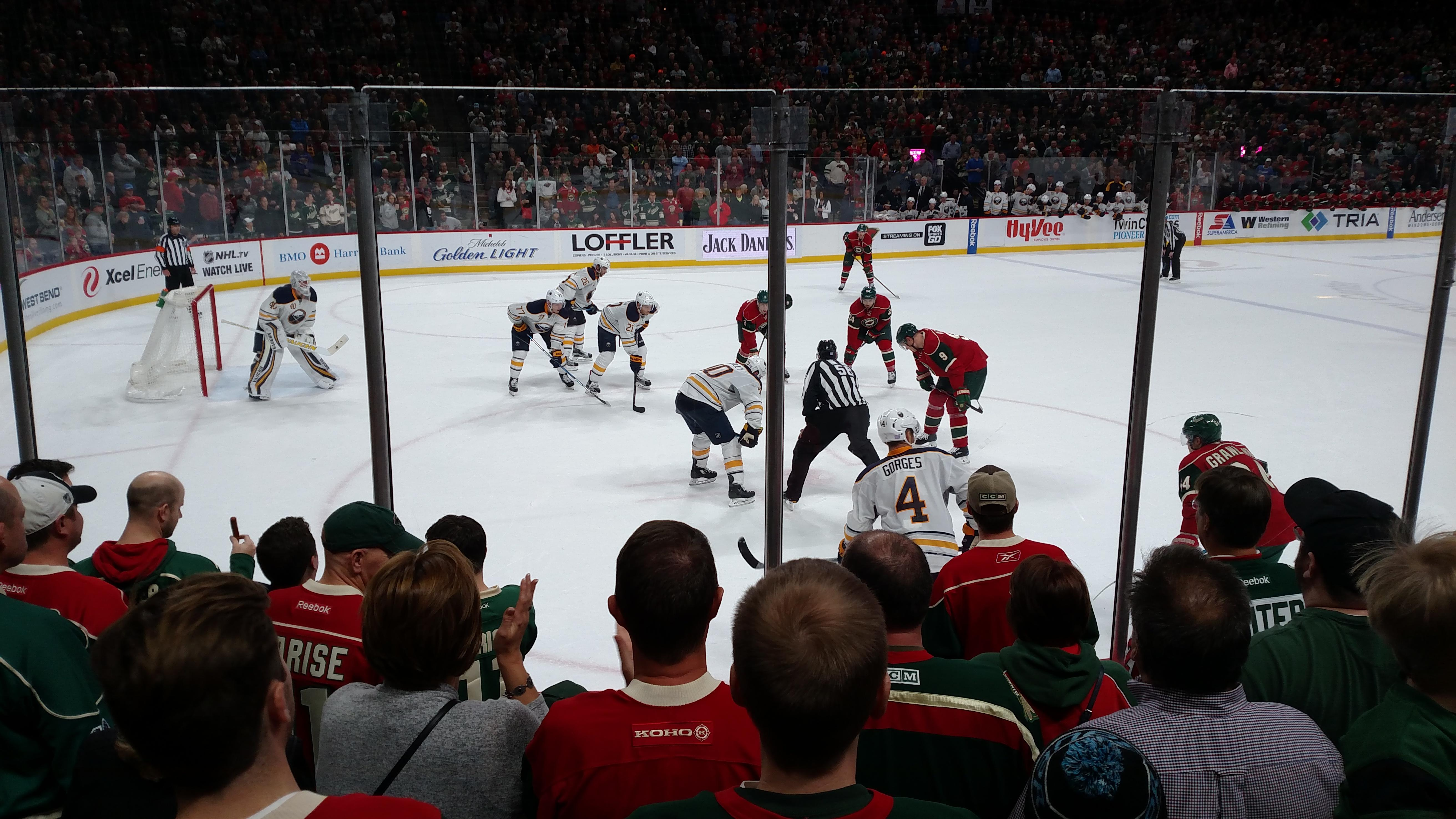 Xcel Energy Center Section 106 Row 6 Seat 7