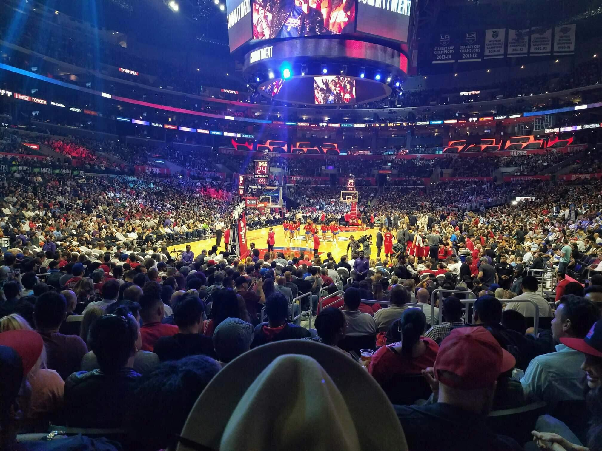 Staples Center Section 106 Row 9 Seat 6