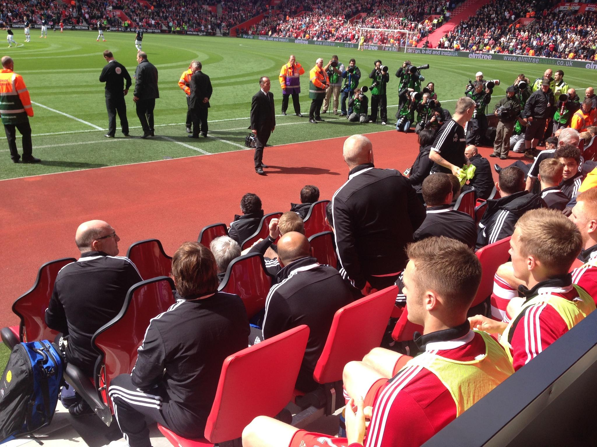 St Mary's Stadium Section 7 Row L