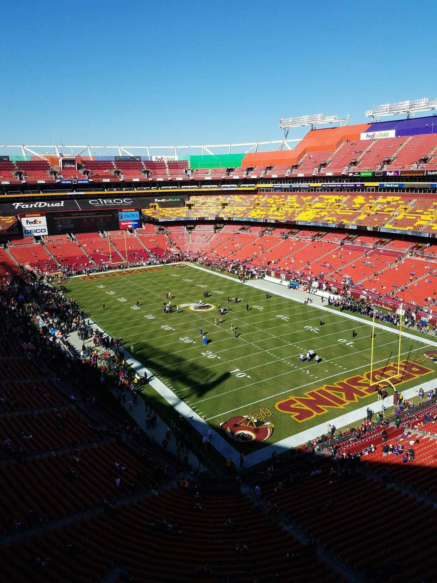 FedEx Field Section 446 Row 1 Seat 1