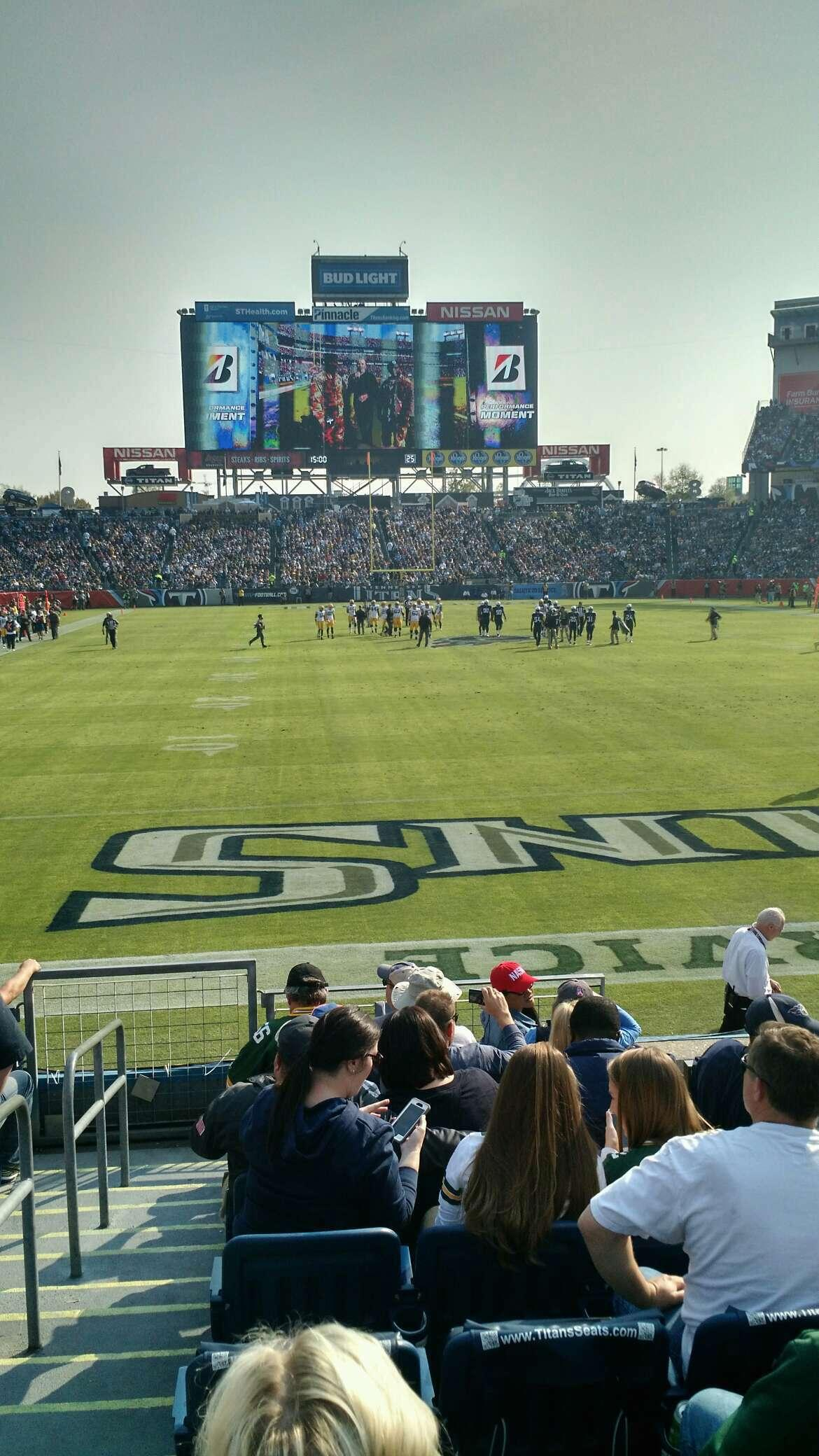 Nissan Stadium Section 101 Row K Seat 20