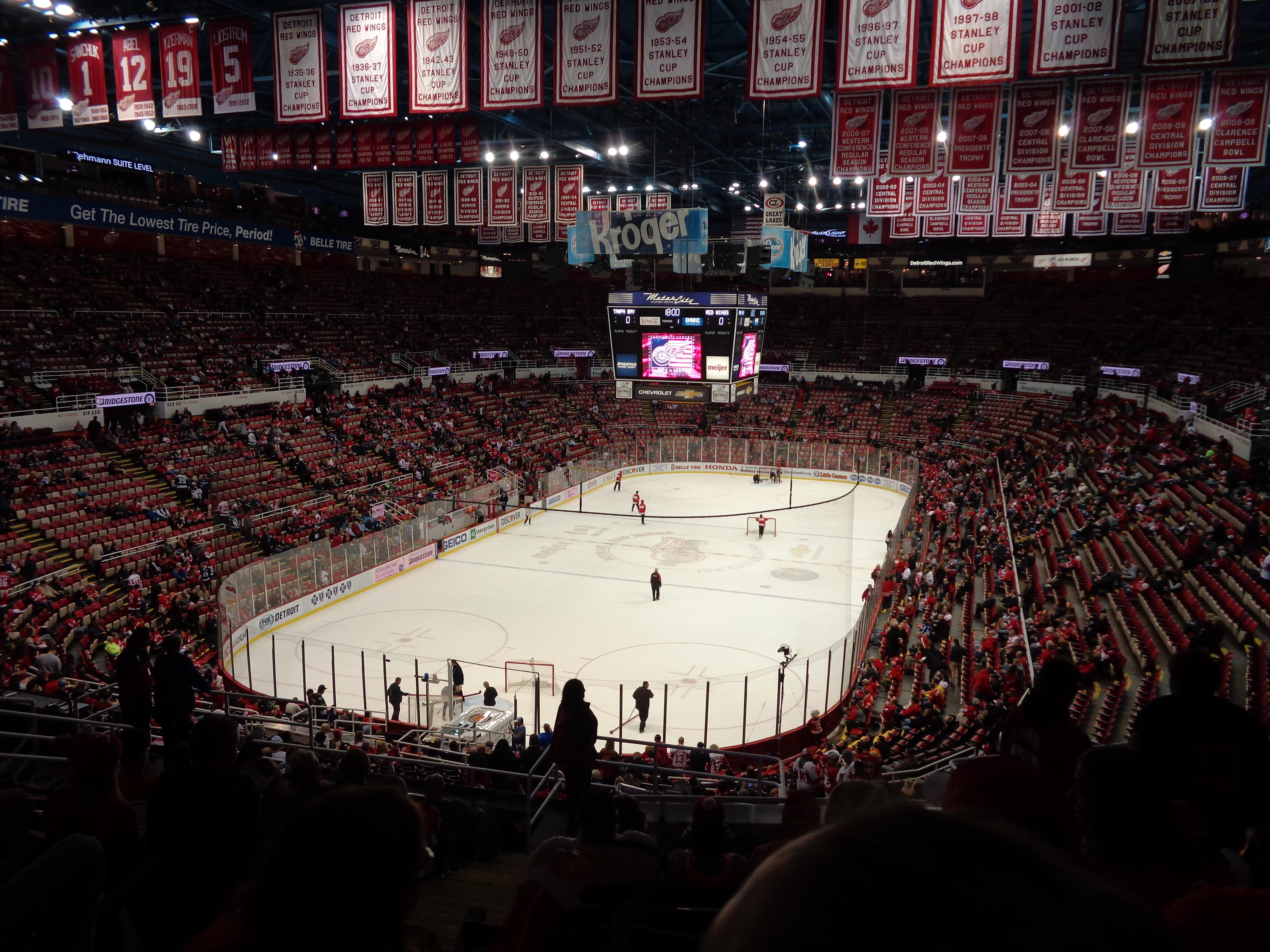 Joe Louis Arena Section 213a Row 13 Seat 13