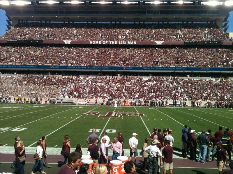 Kyle Field Section FB7 Row 8 Seat 3