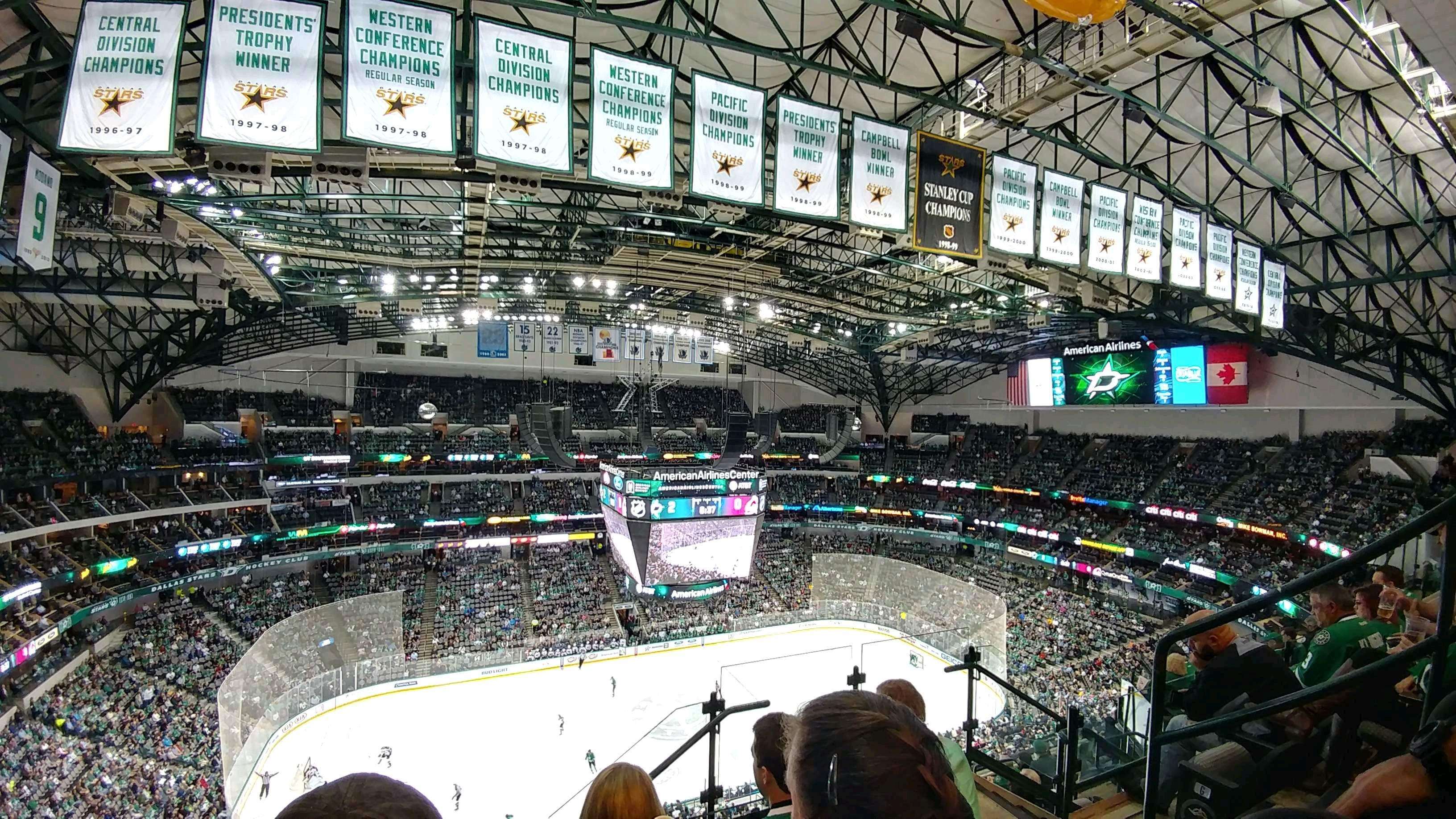 American Airlines Center Section 312 Row J Seat 4