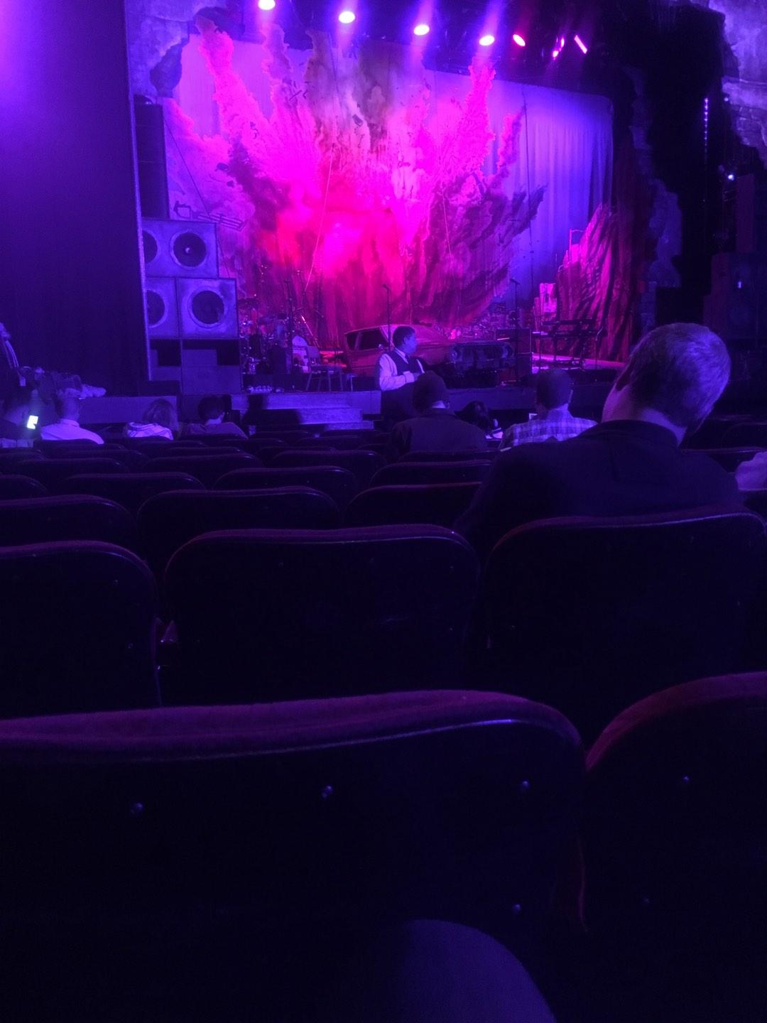 Pantages Theatre (Hollywood) Section Orchestra LC Row J Seat 305