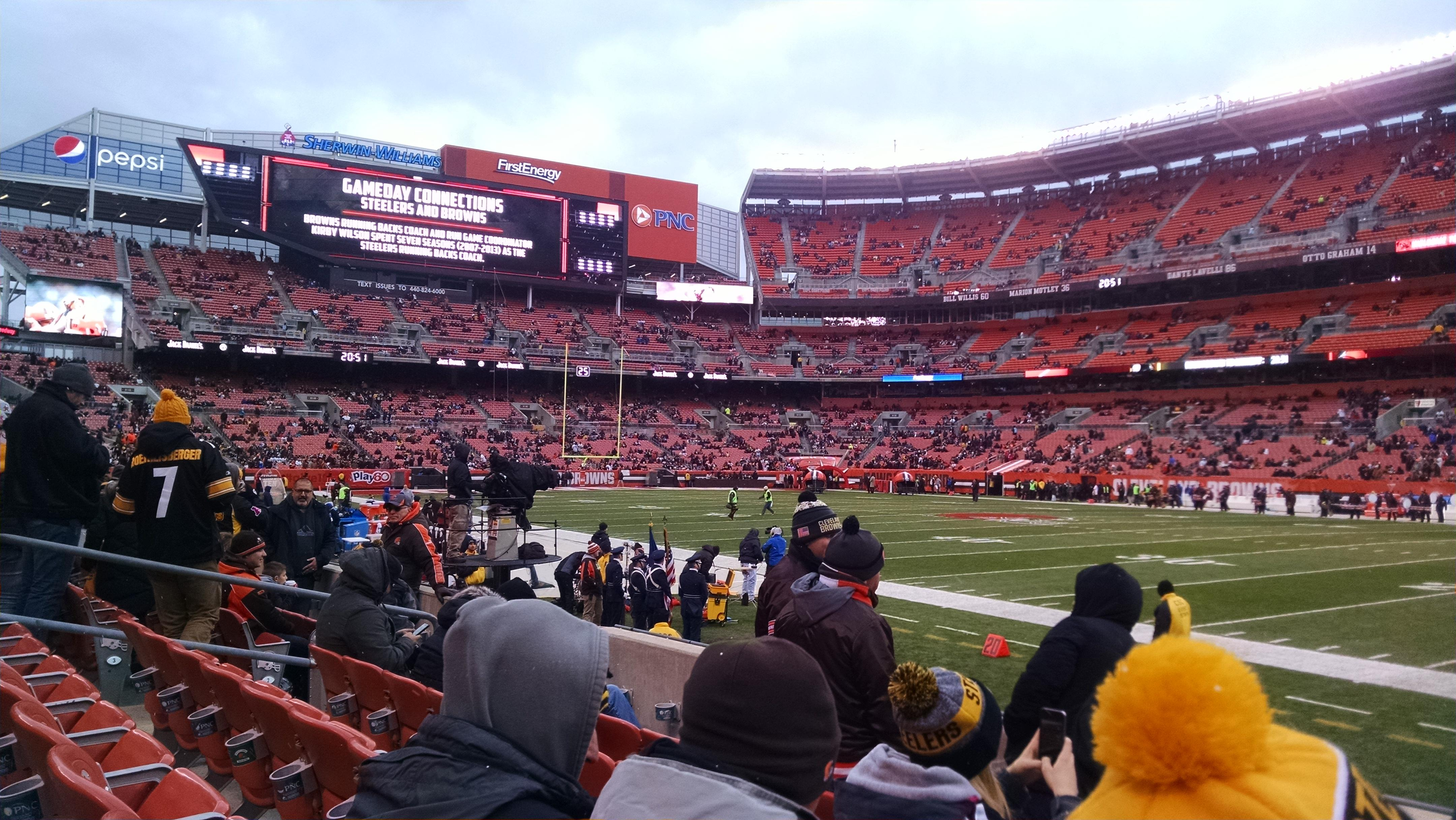 FirstEnergy Stadium Section 112 Row 5 Seat 12