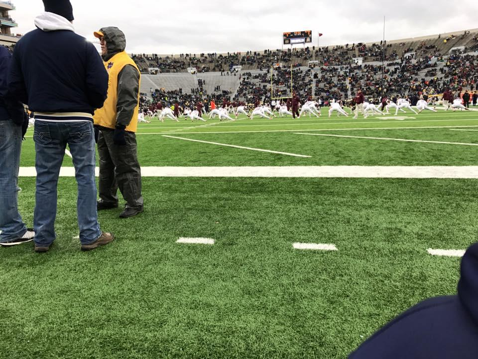 Notre Dame Stadium Section 17 Row B Seat 2