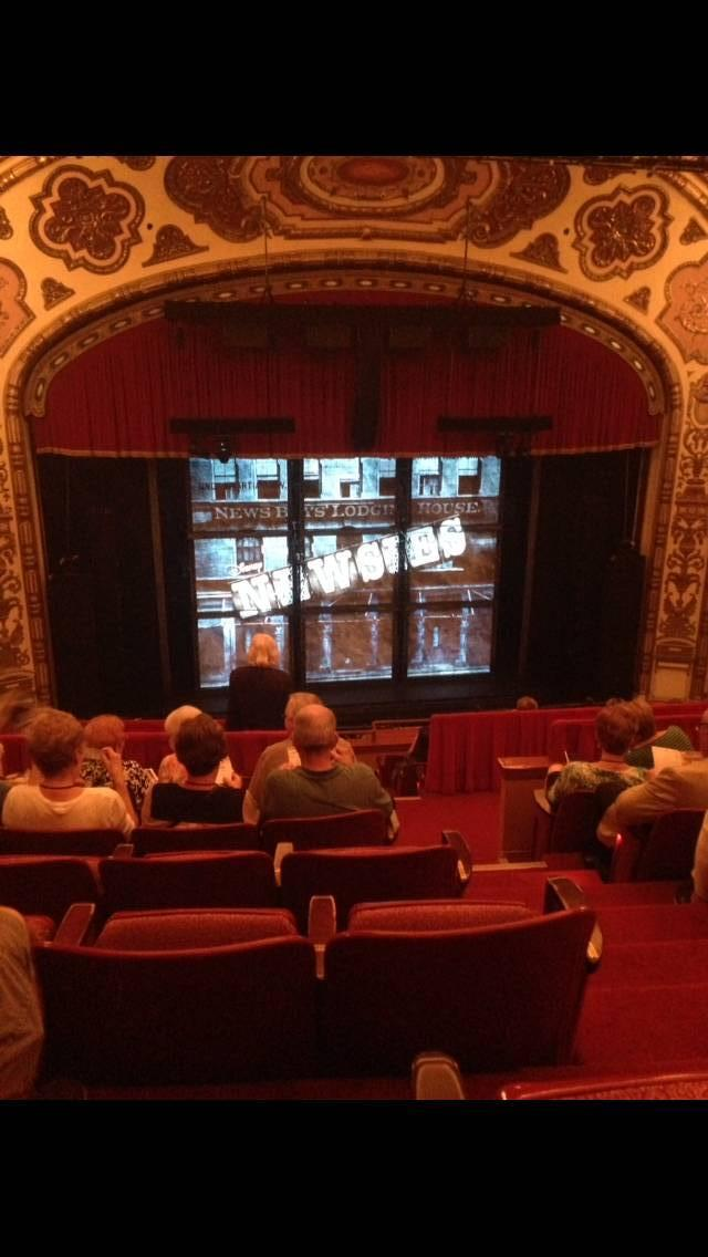Cadillac Palace Theater Section Balcony LC Row J Seat 306