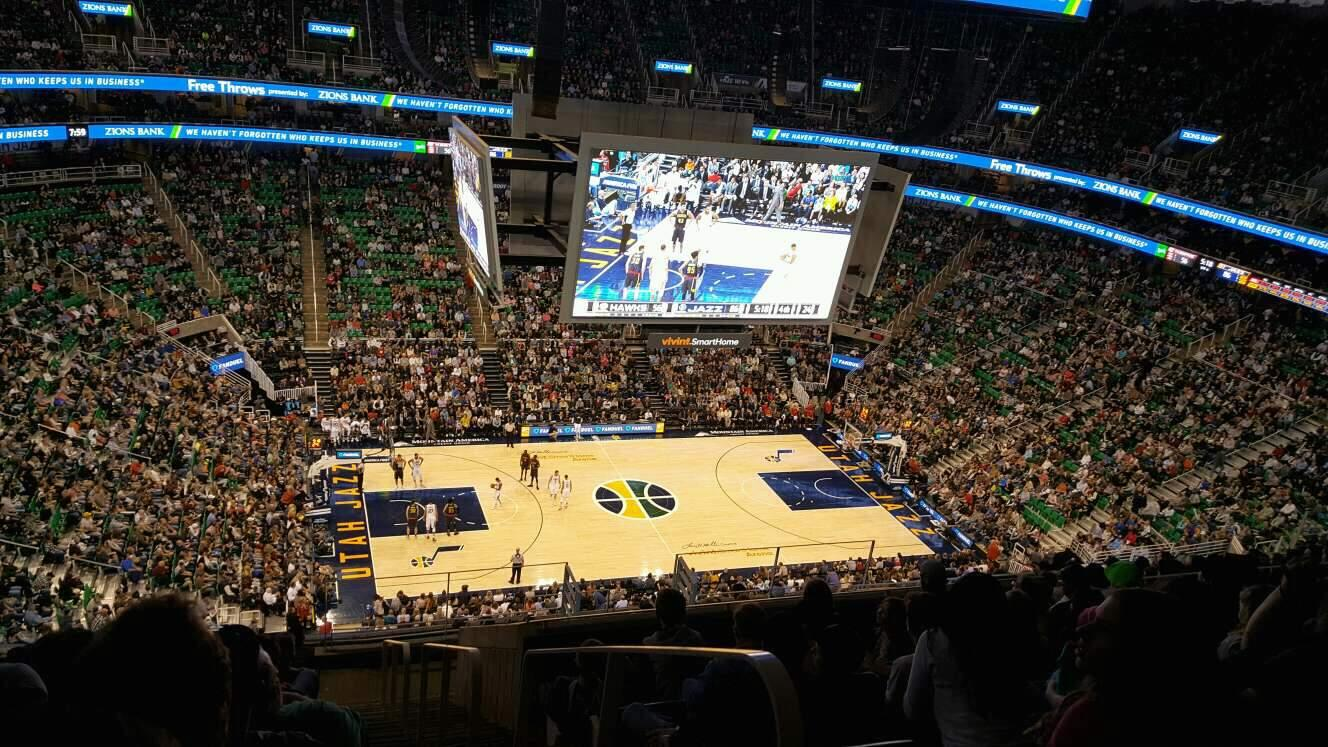 Vivint Smart Home Arena Section 135 Row 14 Seat 1