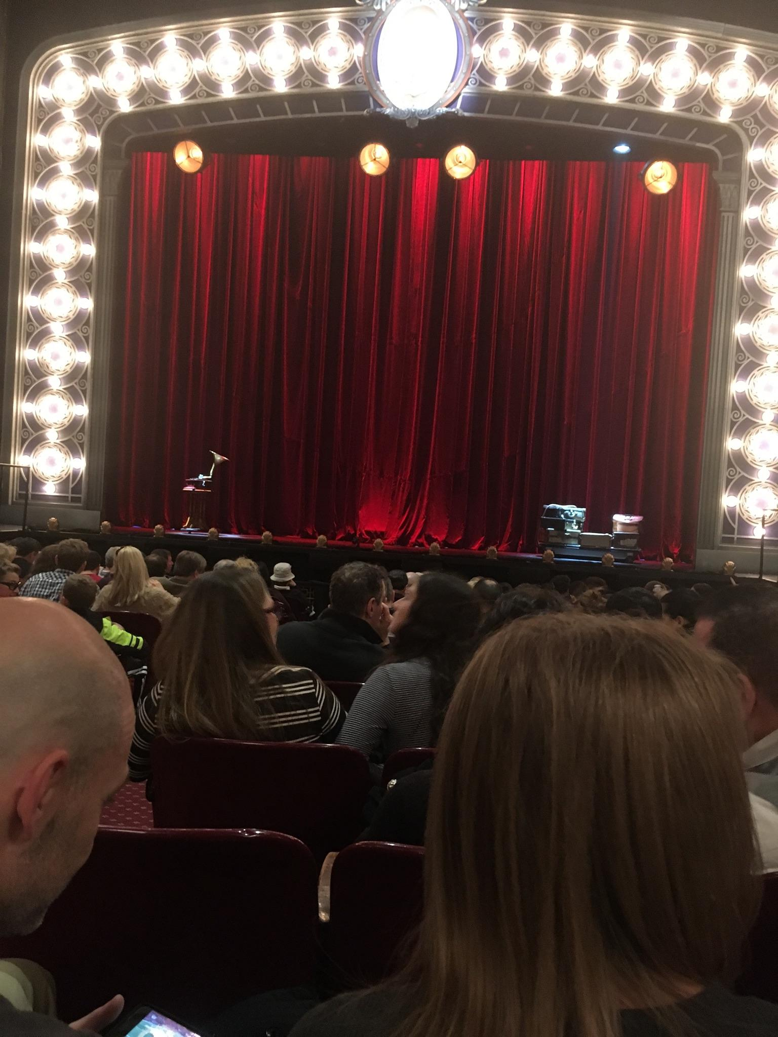 Palace Theatre (Broadway) Section Orchestra Row M Seat 104