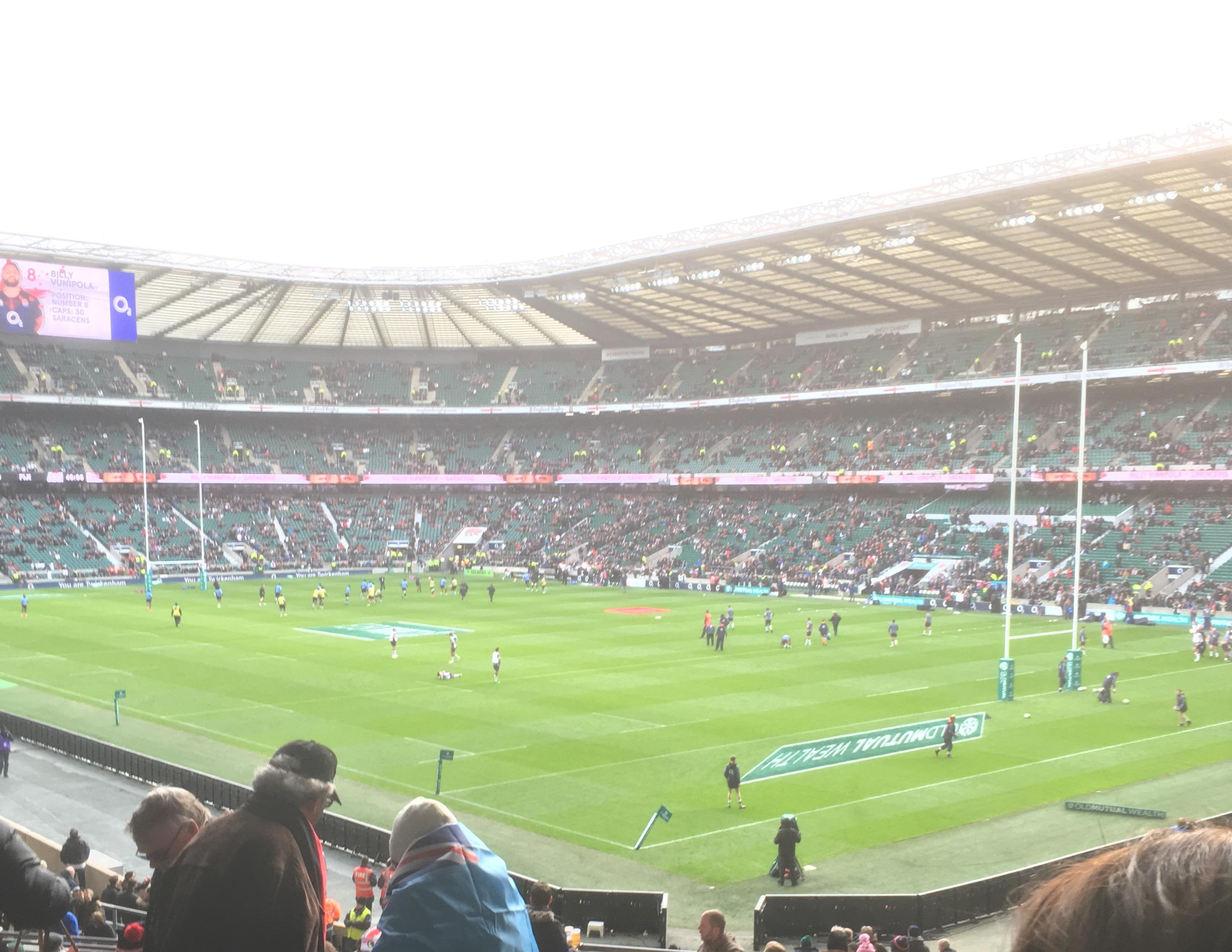 Twickenham Stadium Section L19 Row 38 Seat 10