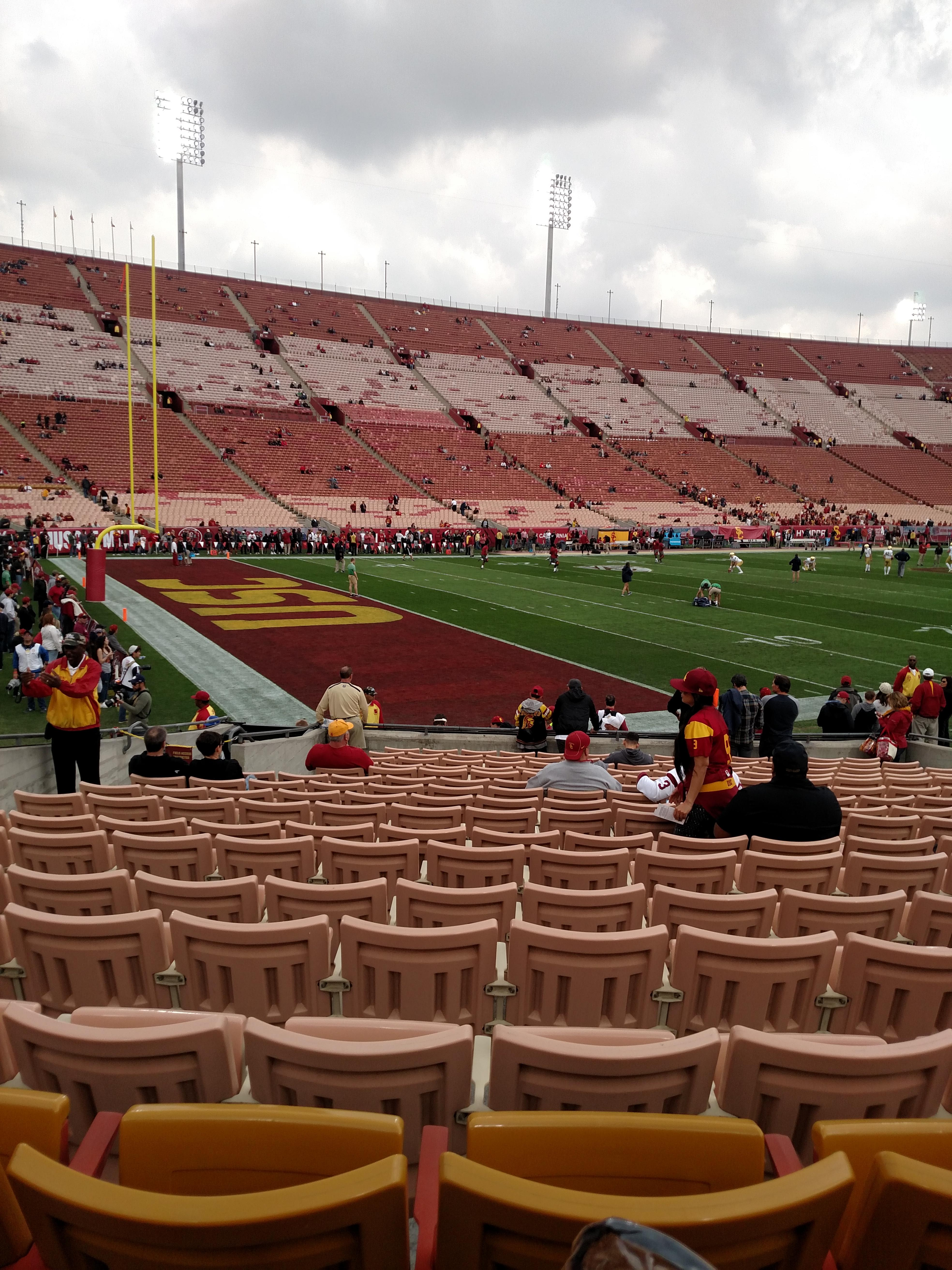 Los Angeles Memorial Coliseum Section 110B Row 17 Seat 7