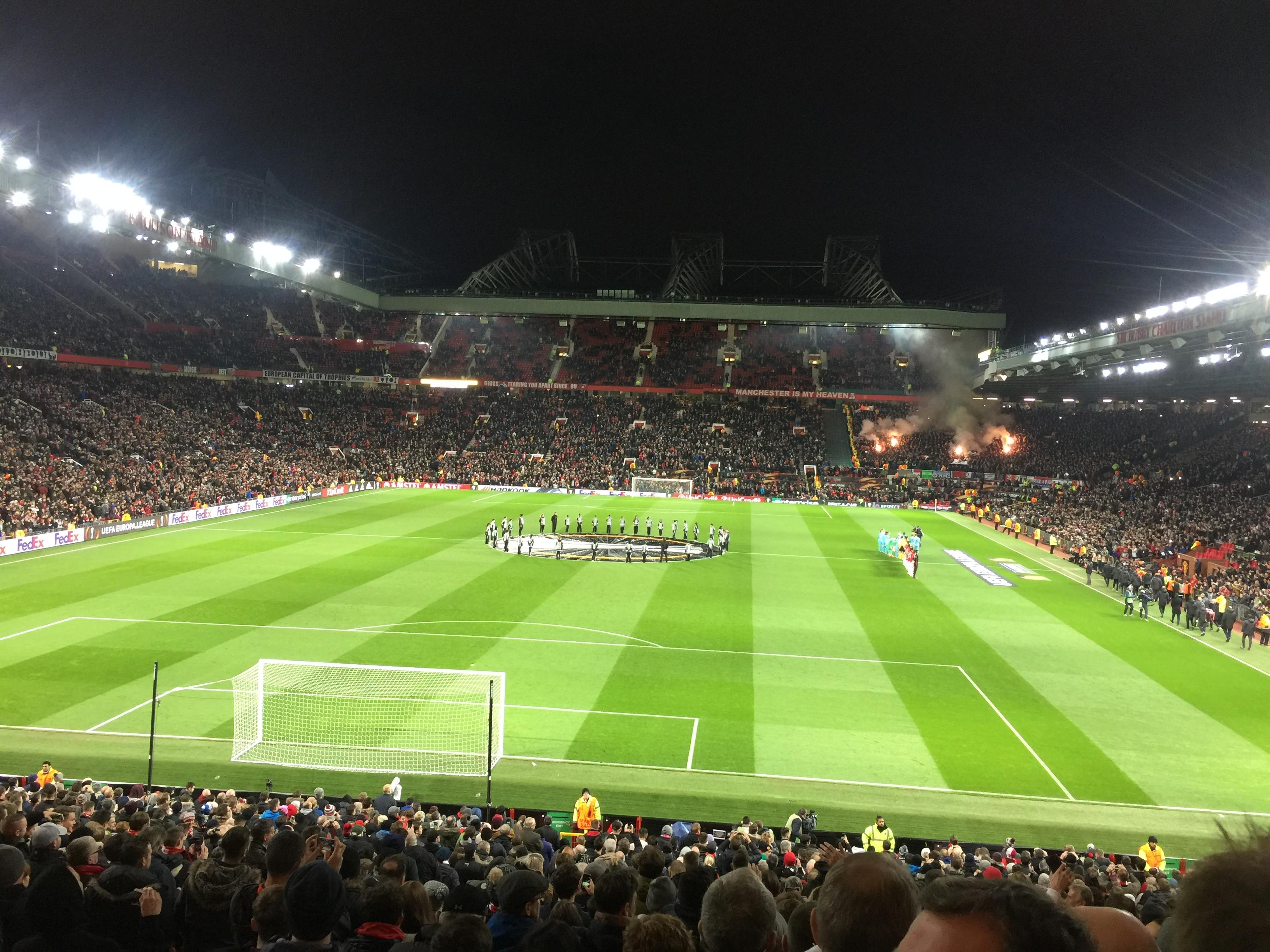 Old Trafford Section W206 Row 20 Seat 166