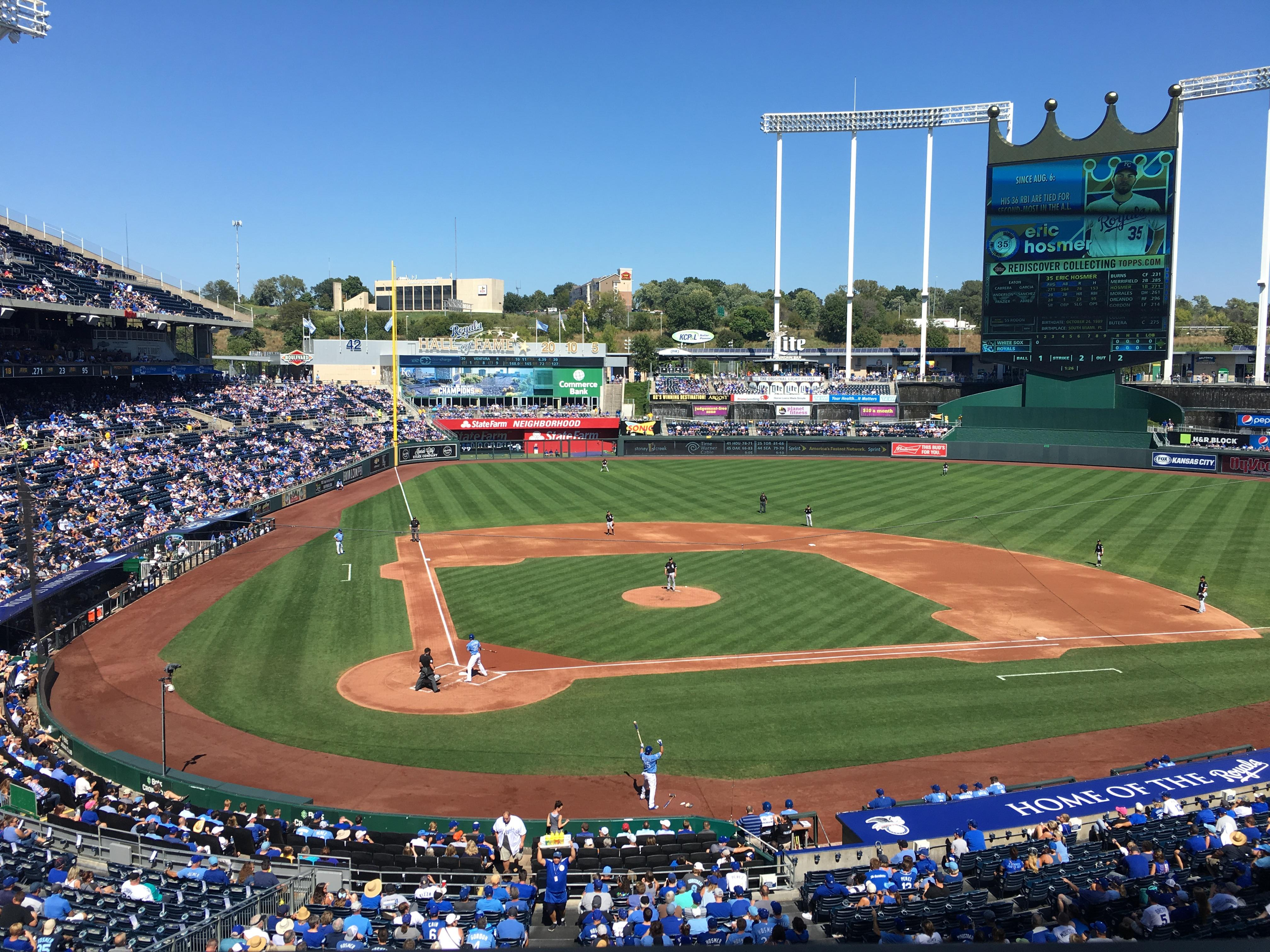 Kauffman Stadium Section 312 Row A Seat 4