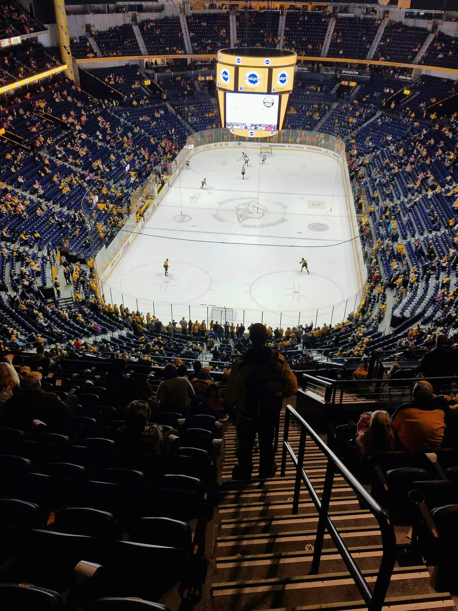 Bridgestone Arena Section 301 Row N Seat 1